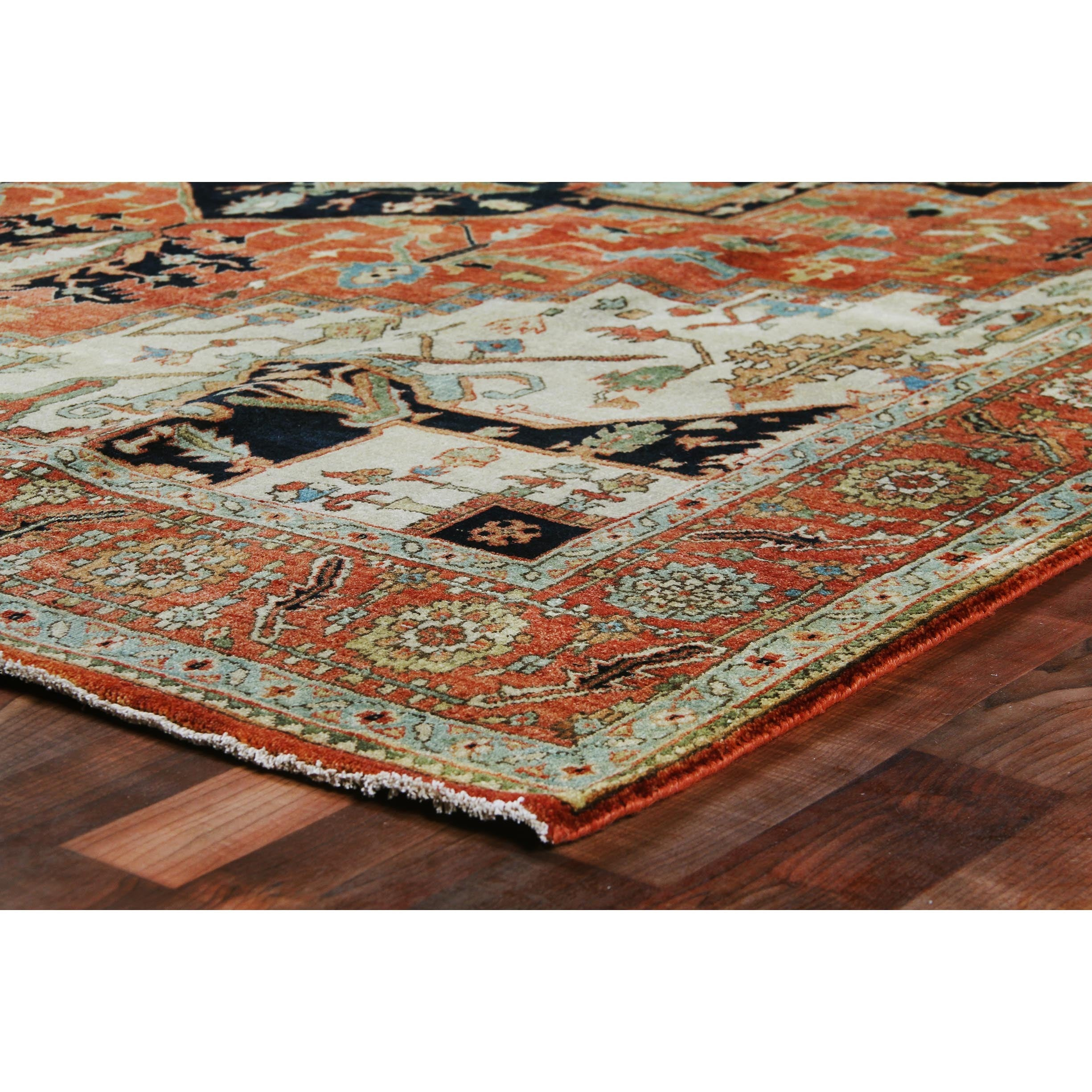Exquisite Rugs Serapi Red Multi New Zealand Wool Rug 13 X 15 Free Shipping Today 18946339