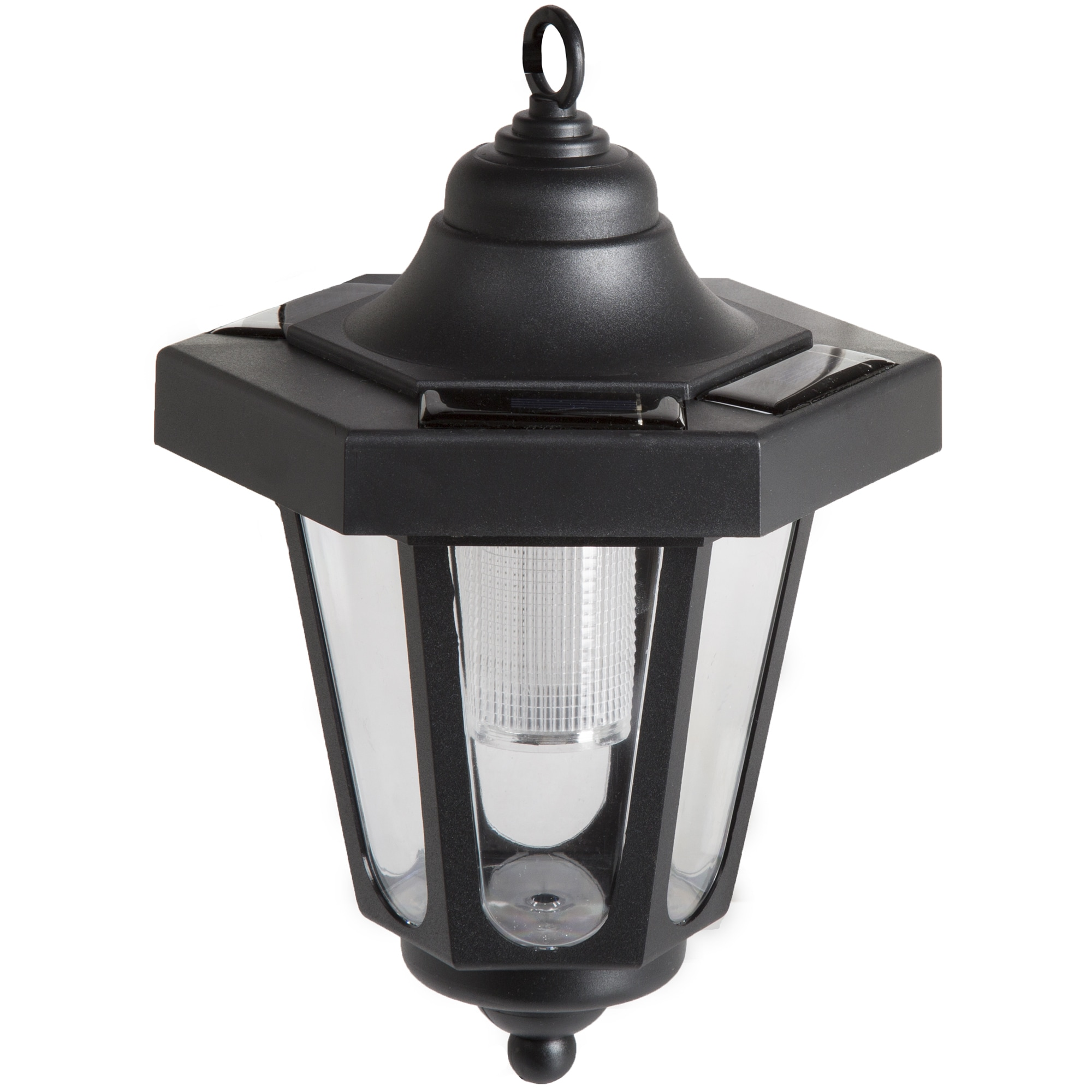 Pure Garden Solar Led Black Hanging Coach Lantern Set Of 2 On Free Shipping Orders Over 45 12084732