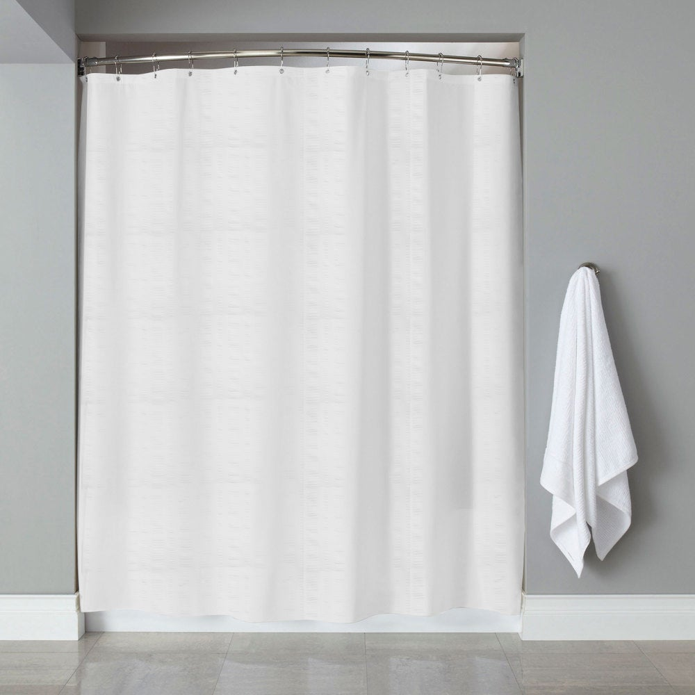 Shop Hotel Quality Embossed Stripe Fabric Shower Curtain/Liner (70 x ...