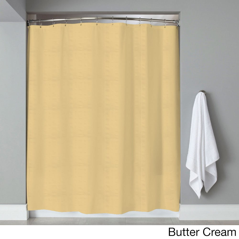 Hotel Quality Embossed Stripe Fabric Shower Curtain Liner 70 X 72 Assorted Colors