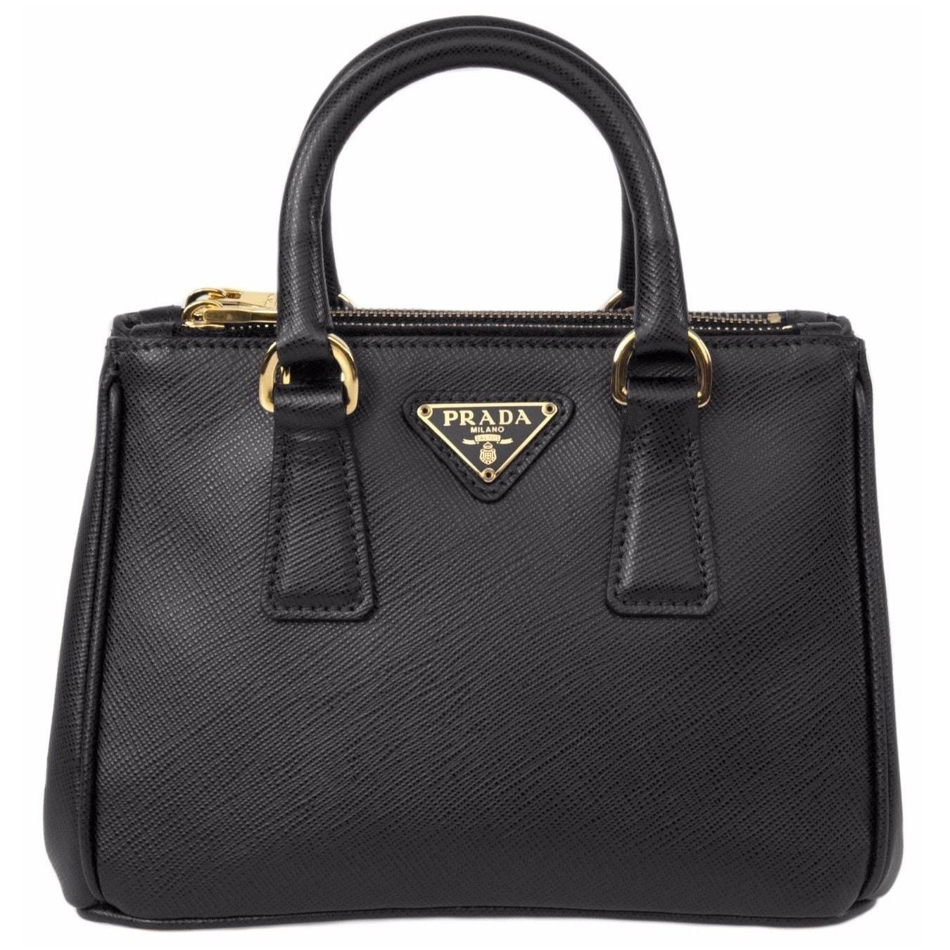 5573ab42e6a1 ... closeout shop prada galleria saffiano leather black mini bag free  shipping today overstock 12089227 83598 1a440