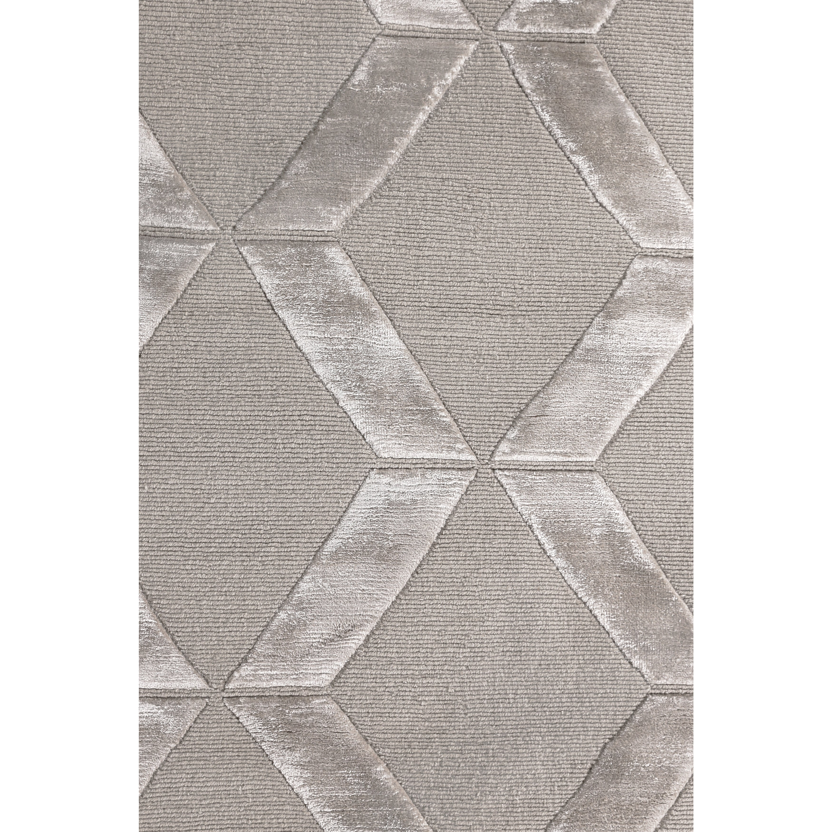 Shop Exquisite Rugs Metro Velvet Silver New Zealand Wool And Viscose