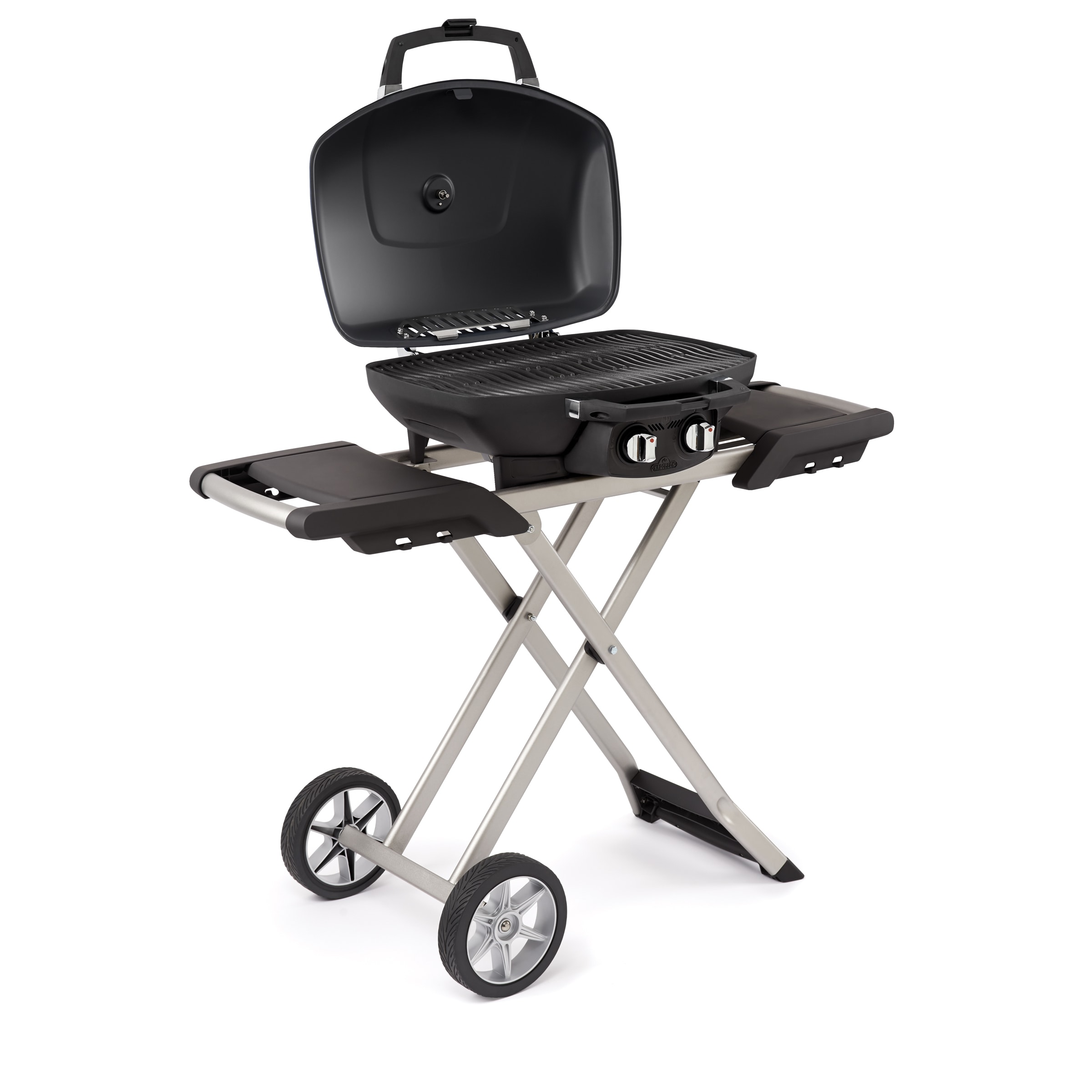 Marvelous Napoleon TravelQ 285 Portable Propane Grill With Scissor Cart   Free  Shipping Today   Overstock   18954351