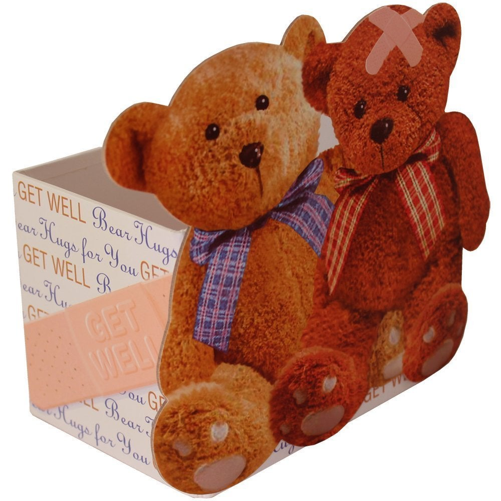 6420ef408ff Shop Discontinued- Get Well Soon  Bear Hugs  Gift Tote - get-well-bear-hugs  - Free Shipping On Orders Over  45 - Overstock - 12091089