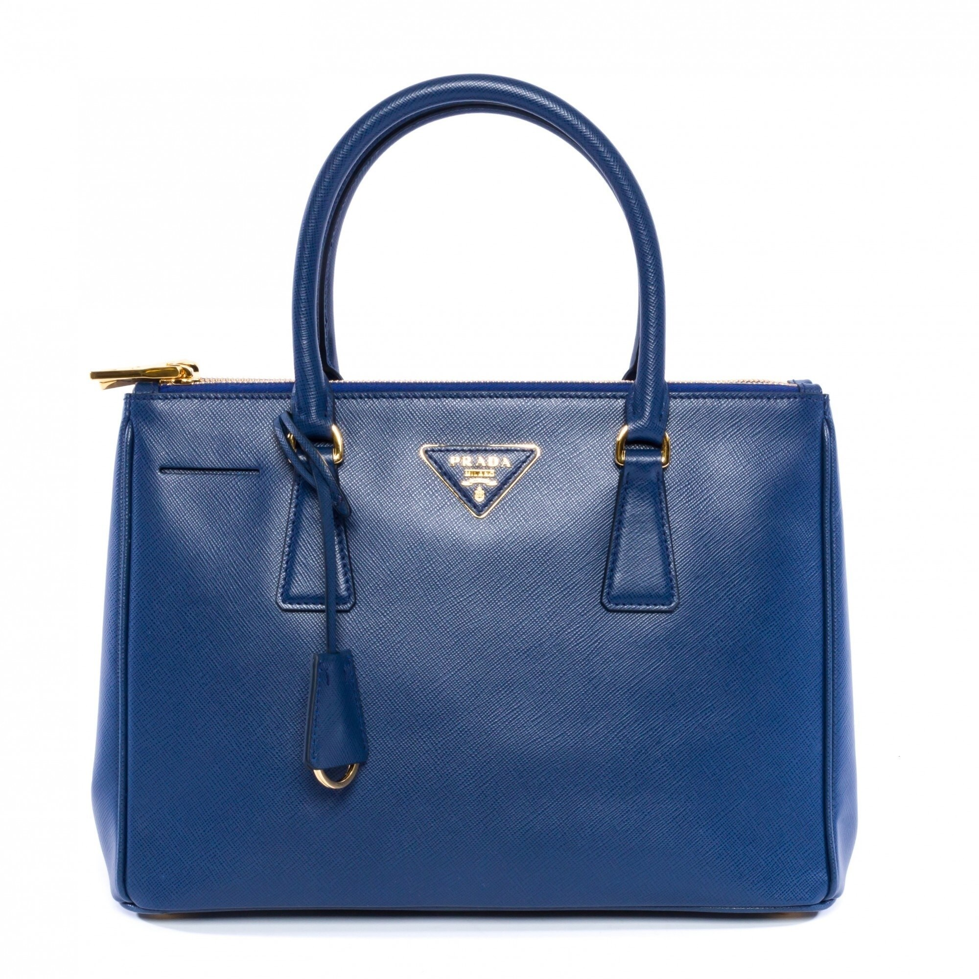 09ac6eb918eb ... clearance shop prada saffiano leather lux tote cornflower blue free  shipping today overstock 12091554 2a231 ddfa8