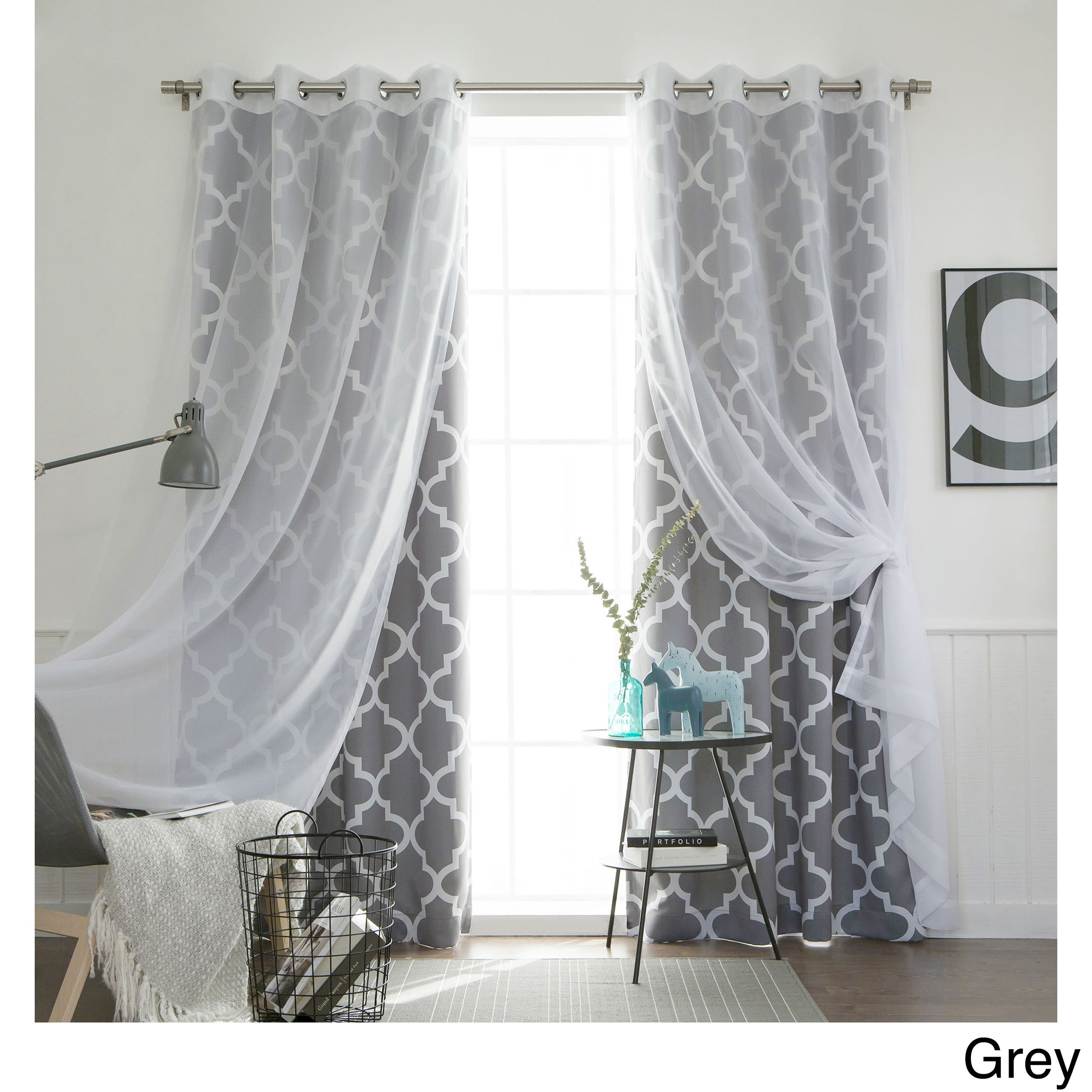 and product shipping overstock home aurora piece garden set match with sheer today curtain panel free mix curtains blackout voile crushed