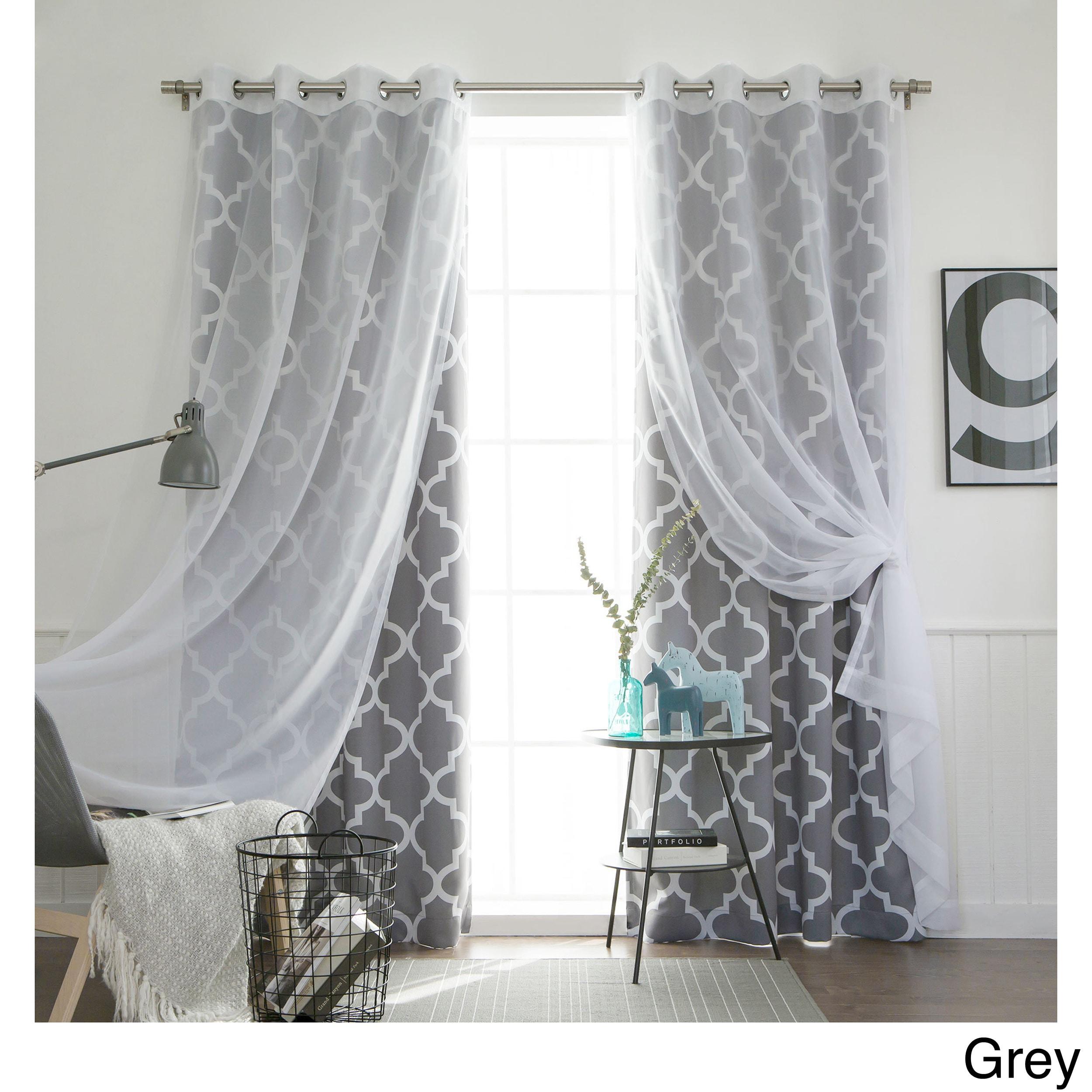 floral curtain sheer rod lavender kiki itm pocket purple voile crushed panel no x print curtains