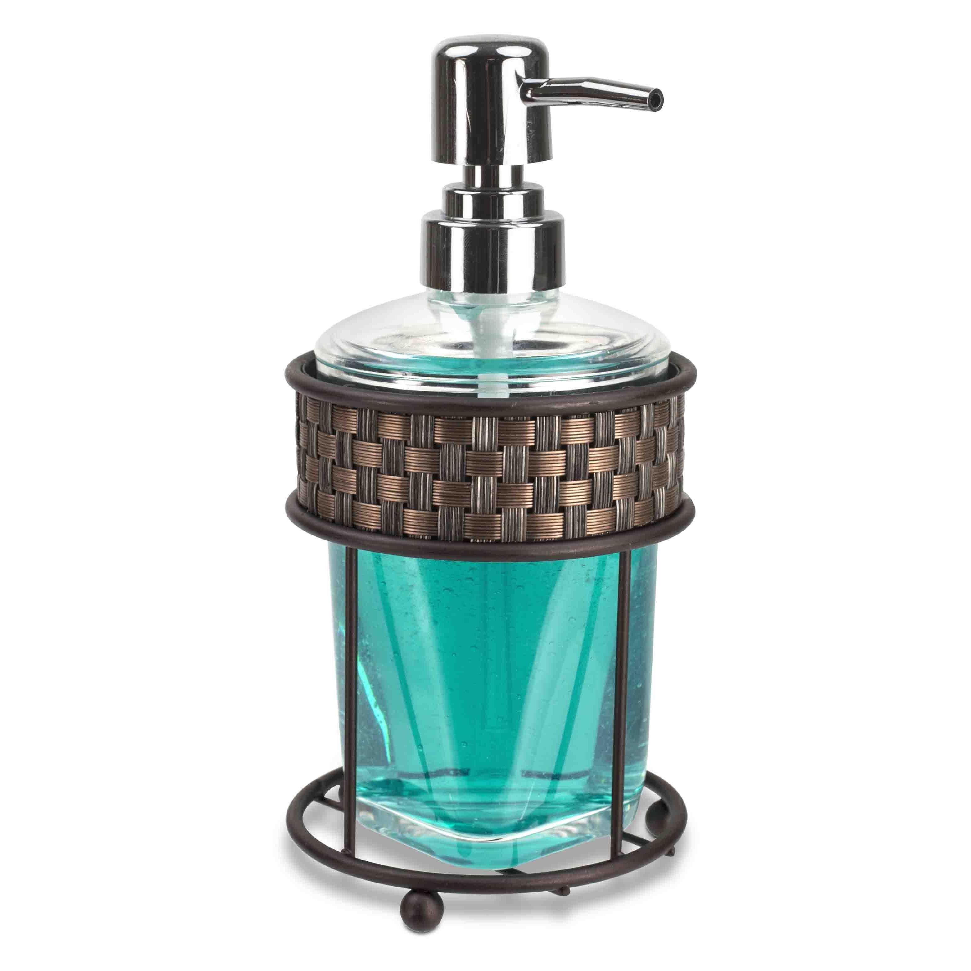 Shop Home Basics Basket Weave Bronze Bathroom Accessory Set - Free ...