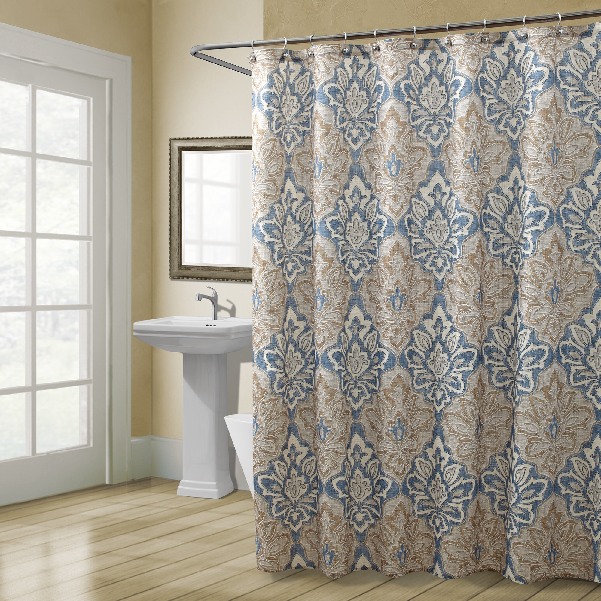 tailor tailored valance grey fabric beige shower curtain a matching geneva absolute sc with