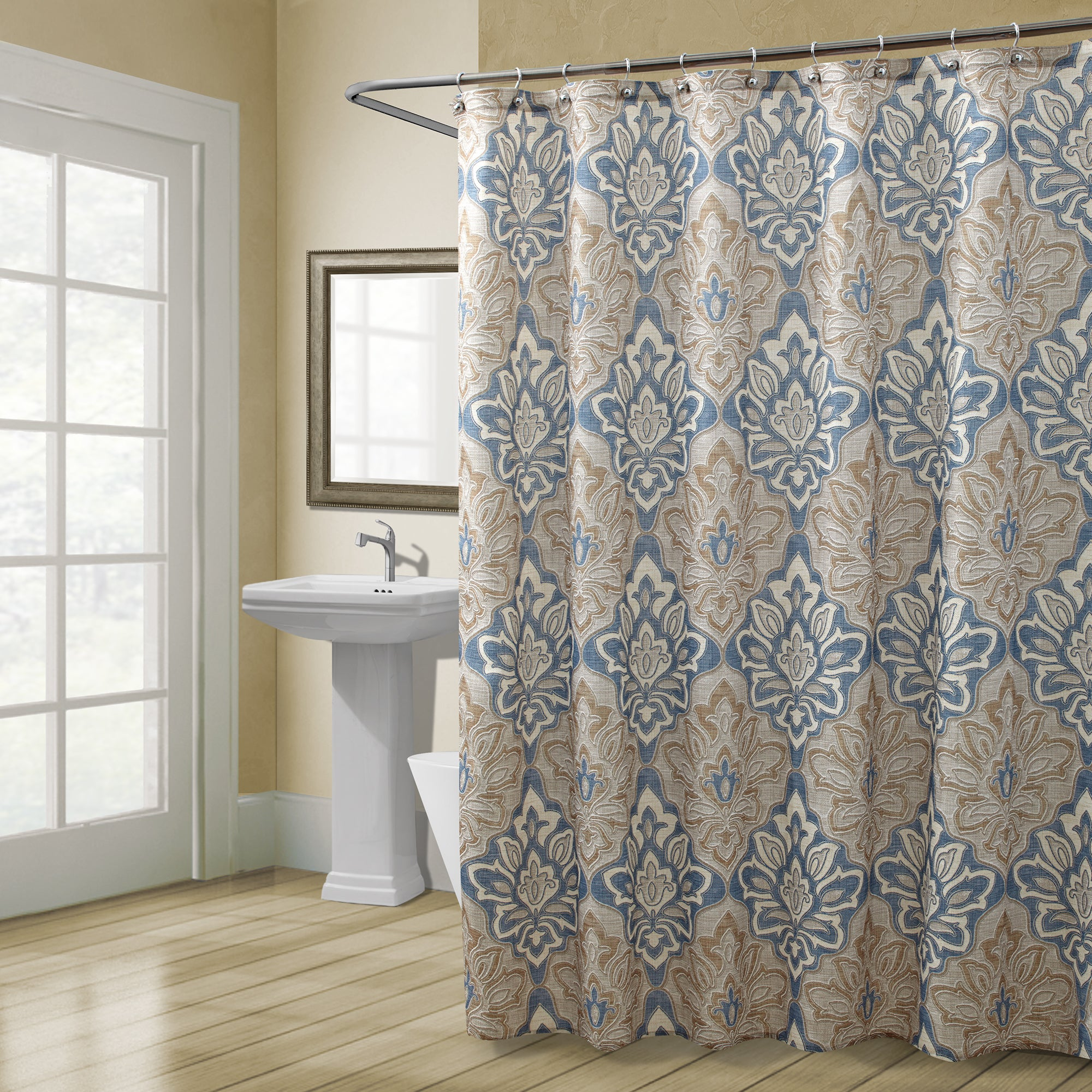 walk in shower with curtain - Home Design