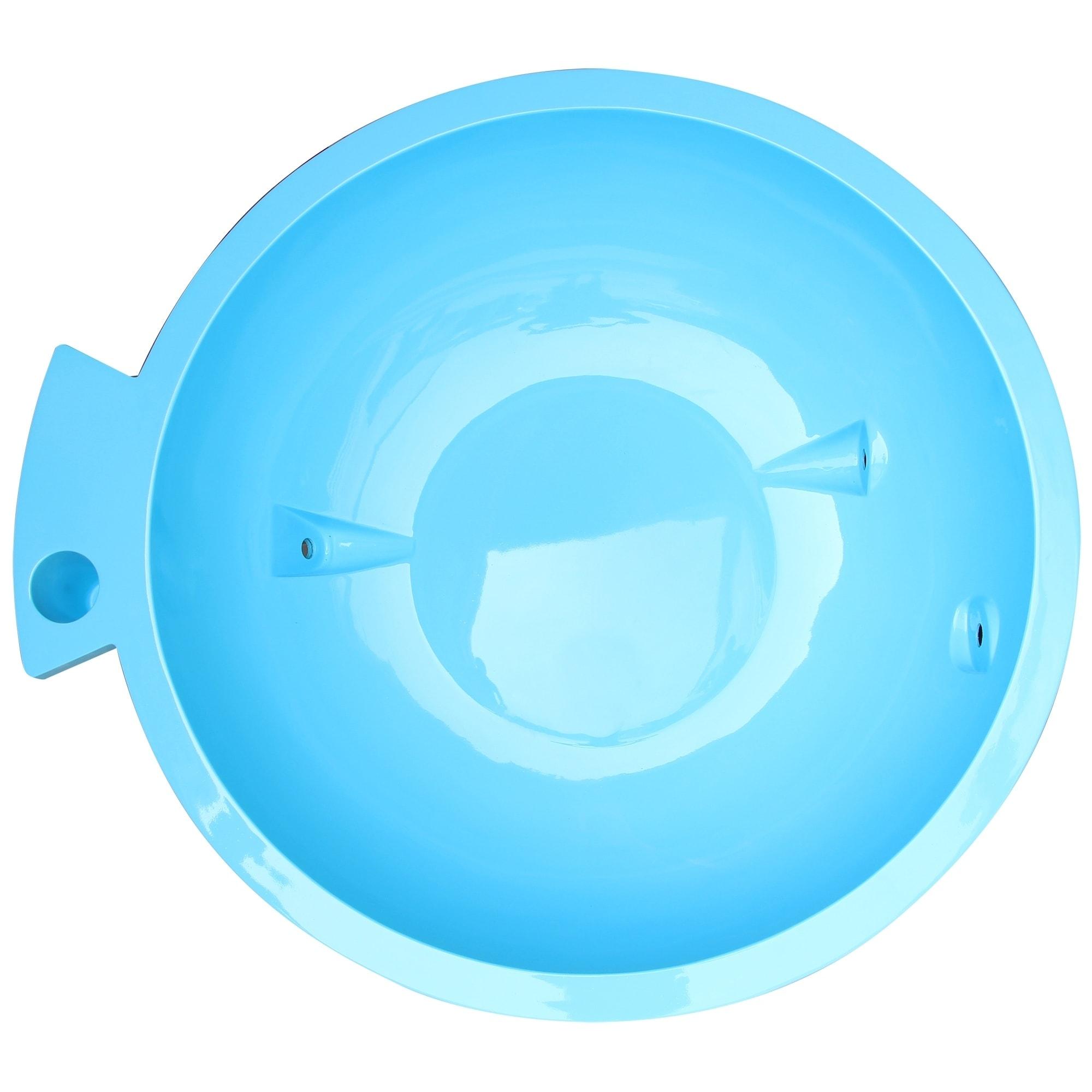 Shop ALFI Brand Light Blue Round Fiberglass Portable Outdoor Hot Tub ...