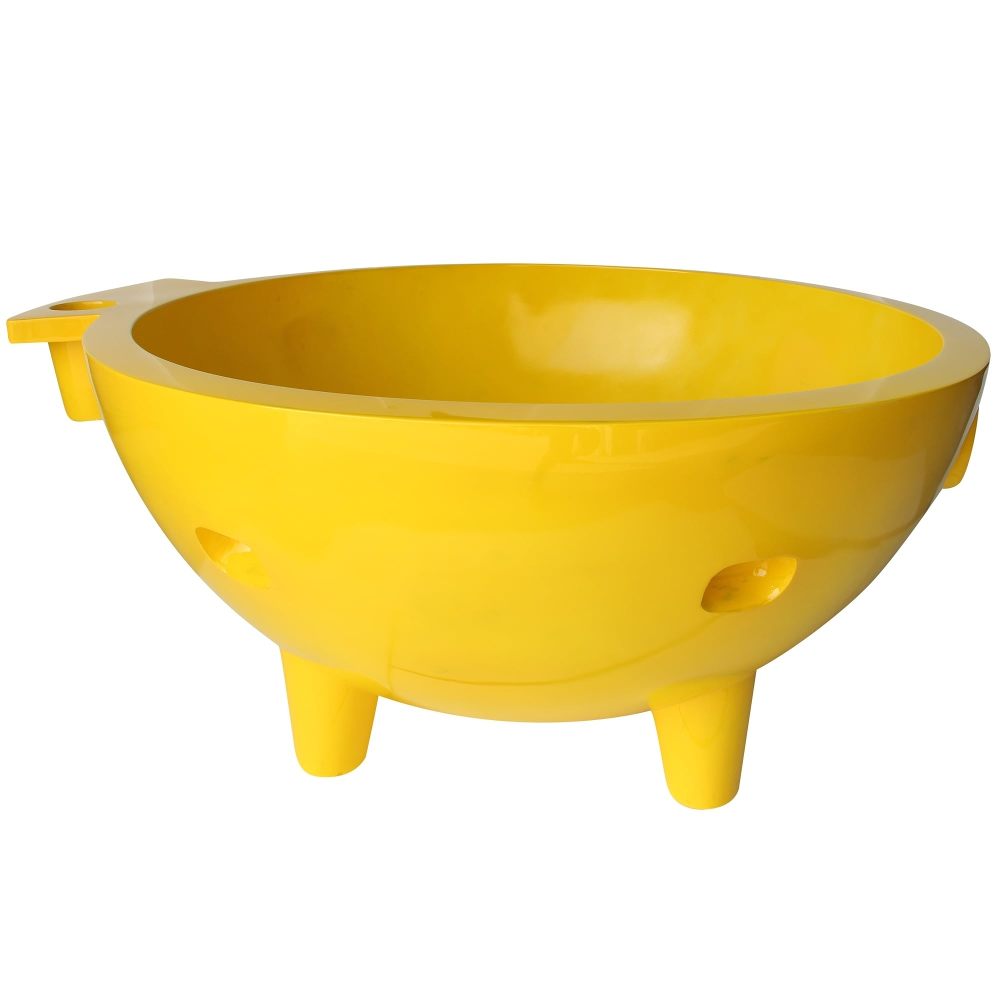 Shop ALFI Brand Yellow Fiberglass Round Portable Outdoor Hot Tub ...