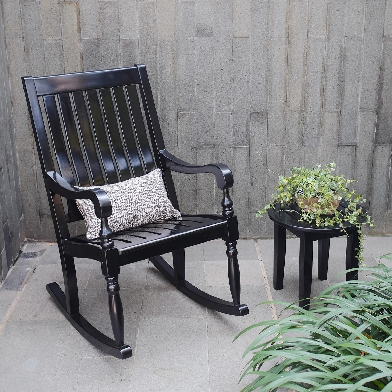 Shop Cambridge Casual Lyon Mahogany Porch Rocking Chair   Free Shipping  Today   Overstock.com   12102233