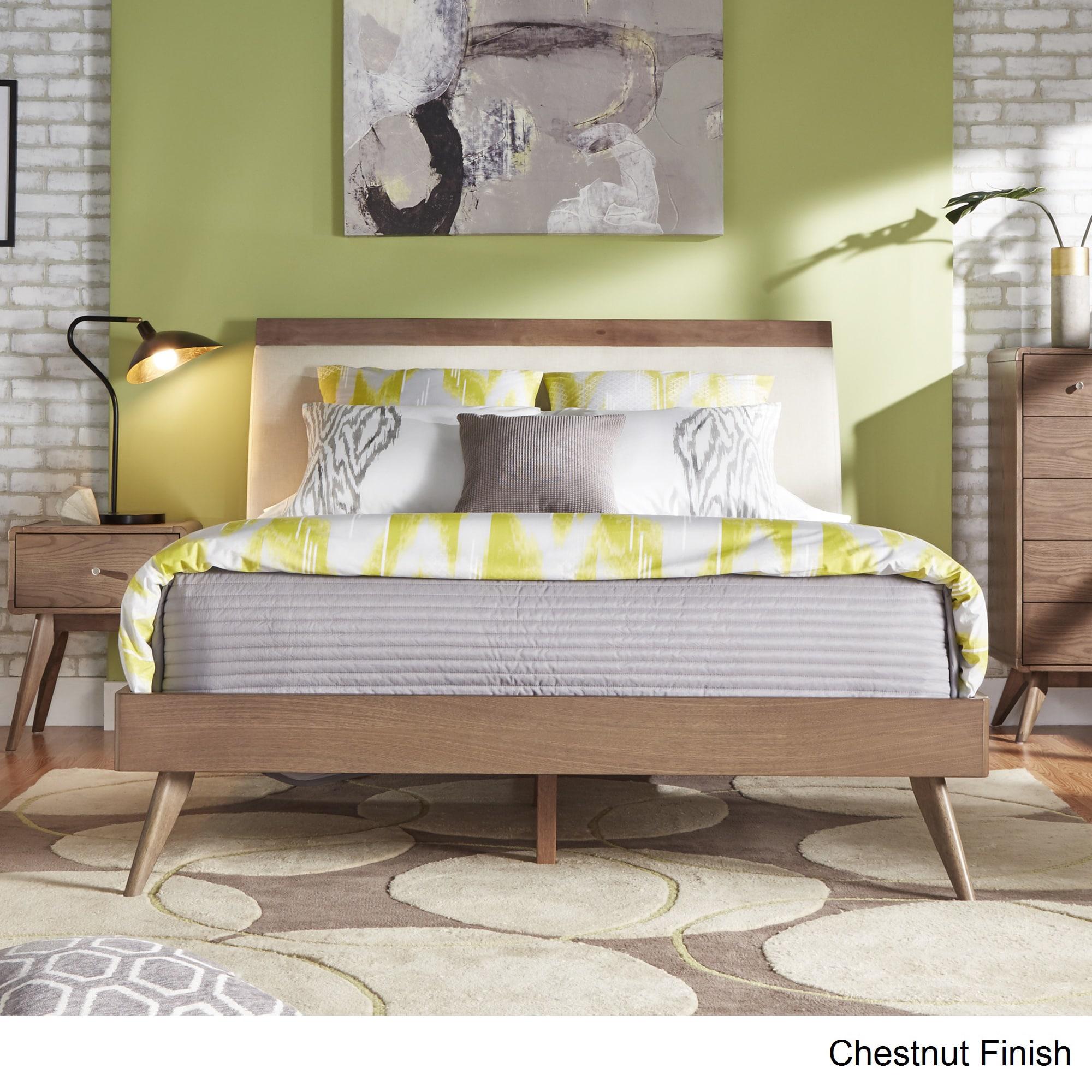 MID CENTURY LIVING Penelope Danish Modern Tapered Platform Bed