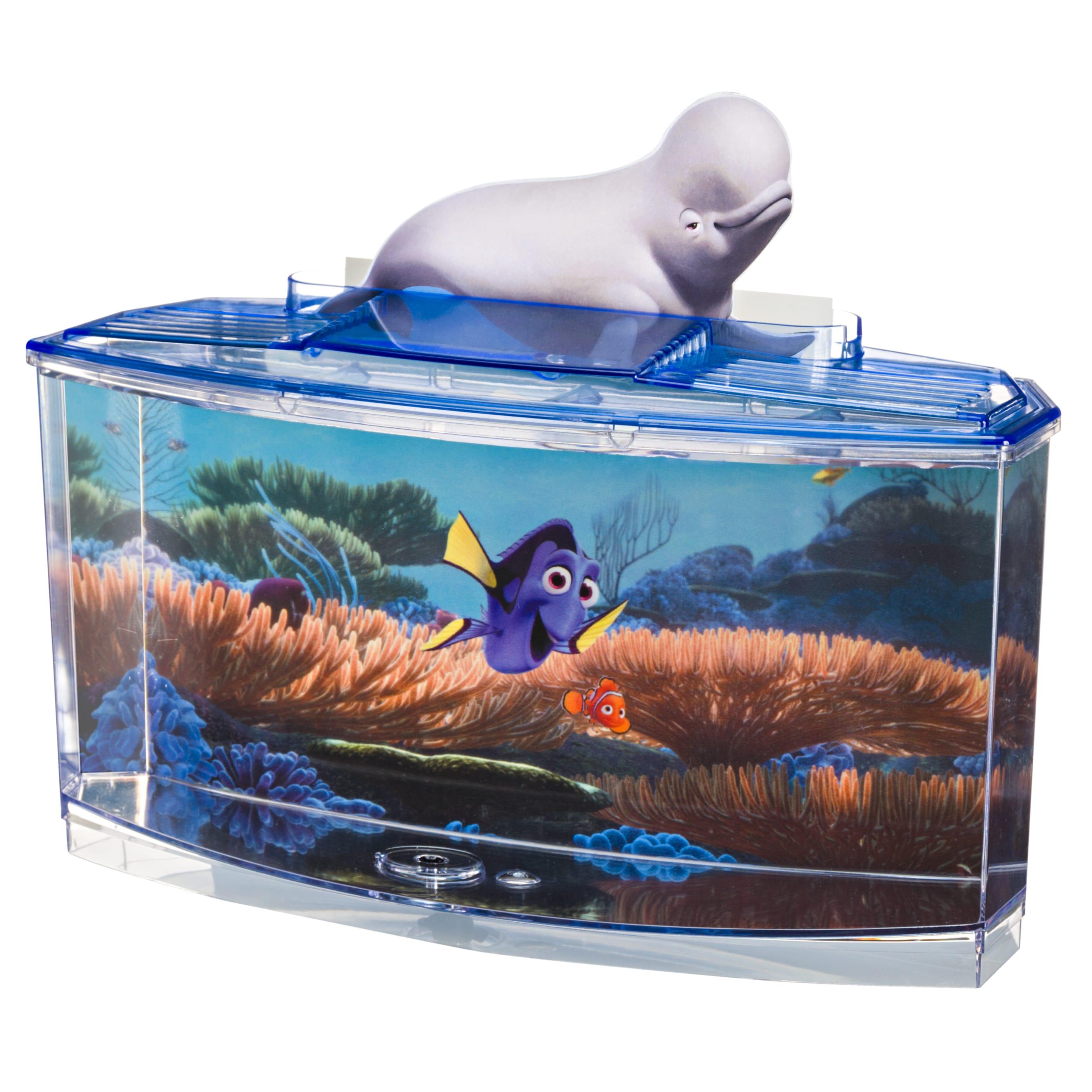Penn Plax Disney Finding Dory Aquarium Betta Fish Tank Kit with 4