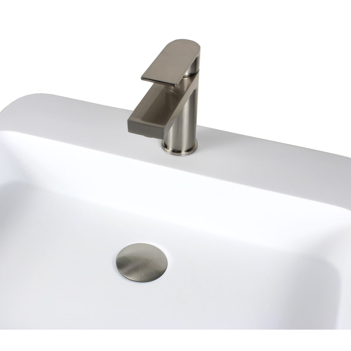 Shop Anna Style Brushed Nickel Stainless Steel Lavatory Faucet - On ...