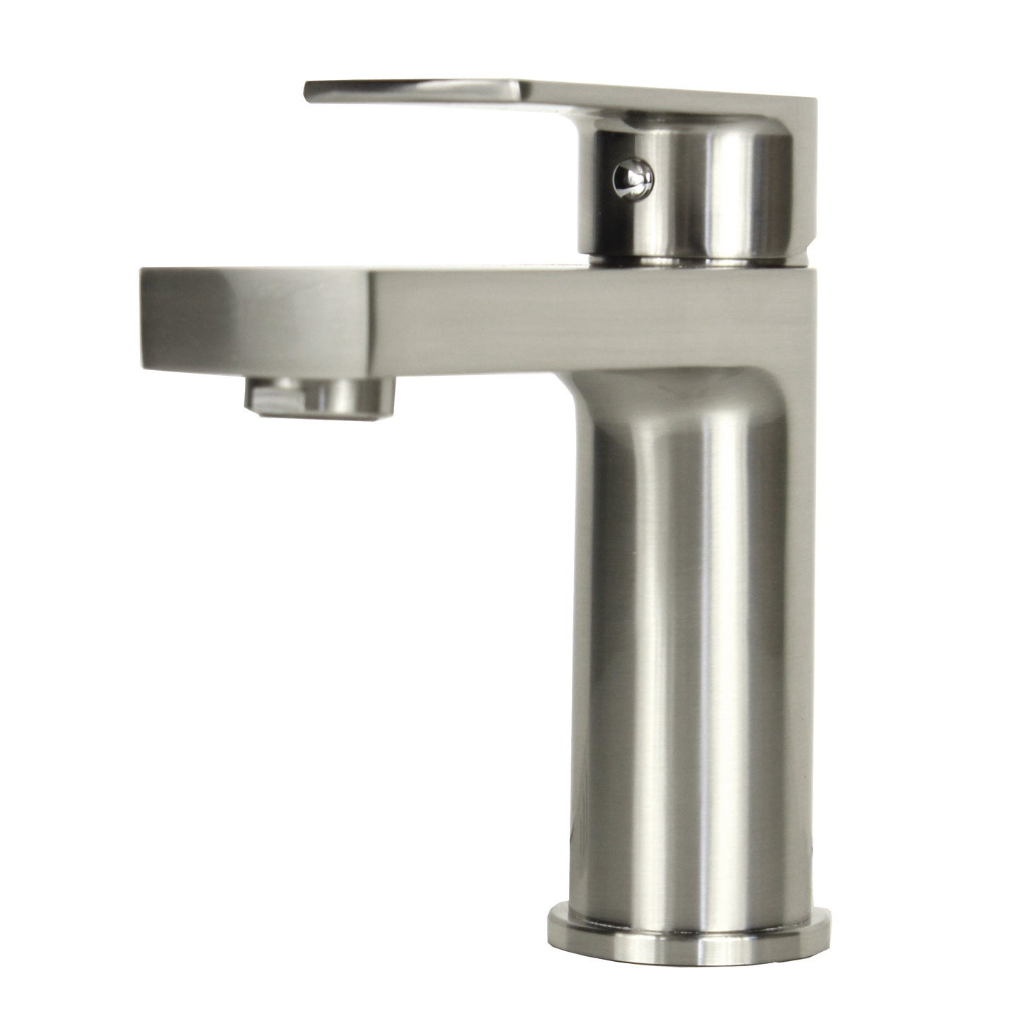 Shop Anna Style Brushed Nickel Stainless Steel Lavatory Faucet On - Brushed stainless steel bathroom faucet