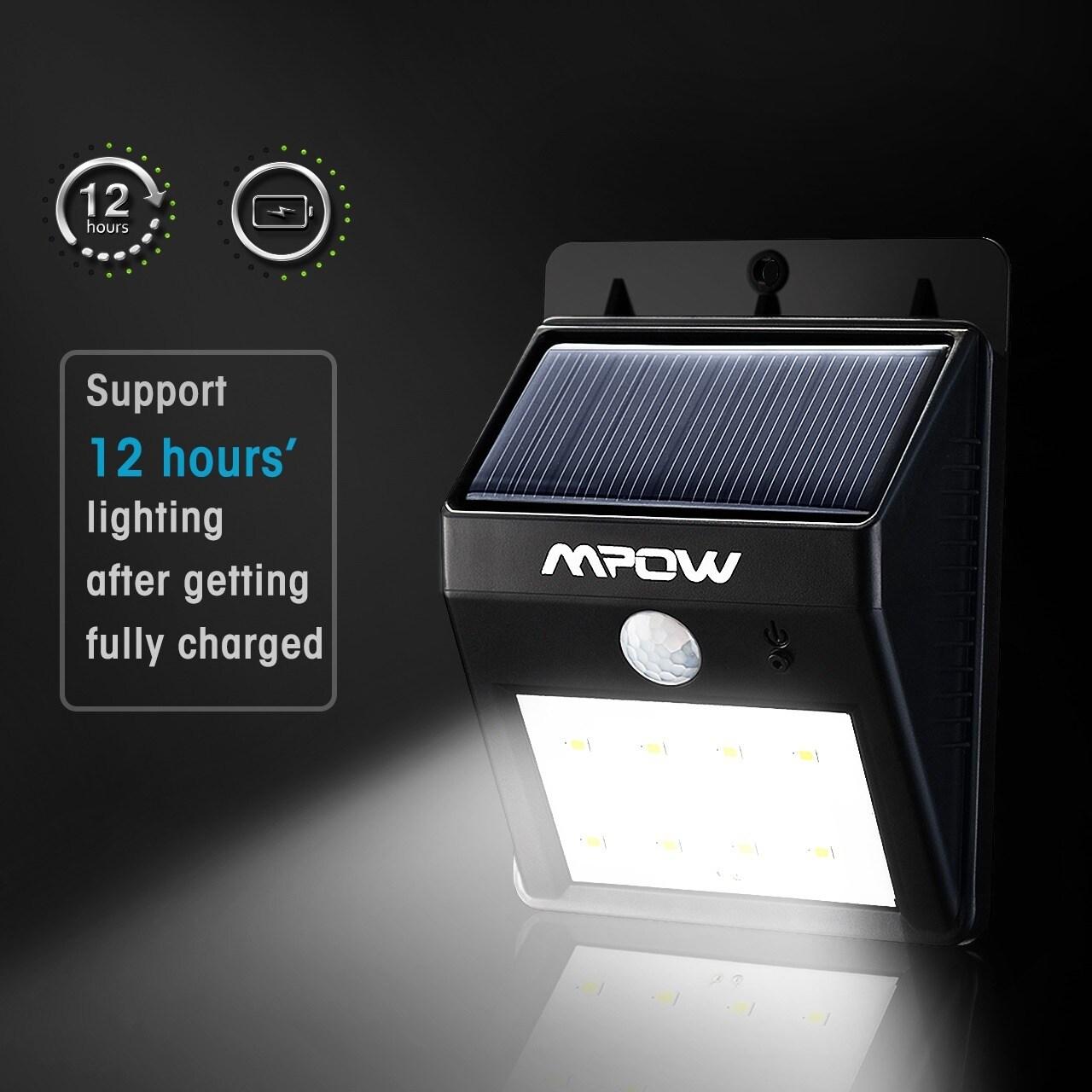 Mpow solar powered wireless outdoor motion sensor light free mpow solar powered wireless outdoor motion sensor light free shipping on orders over 45 overstock 18974309 aloadofball Choice Image