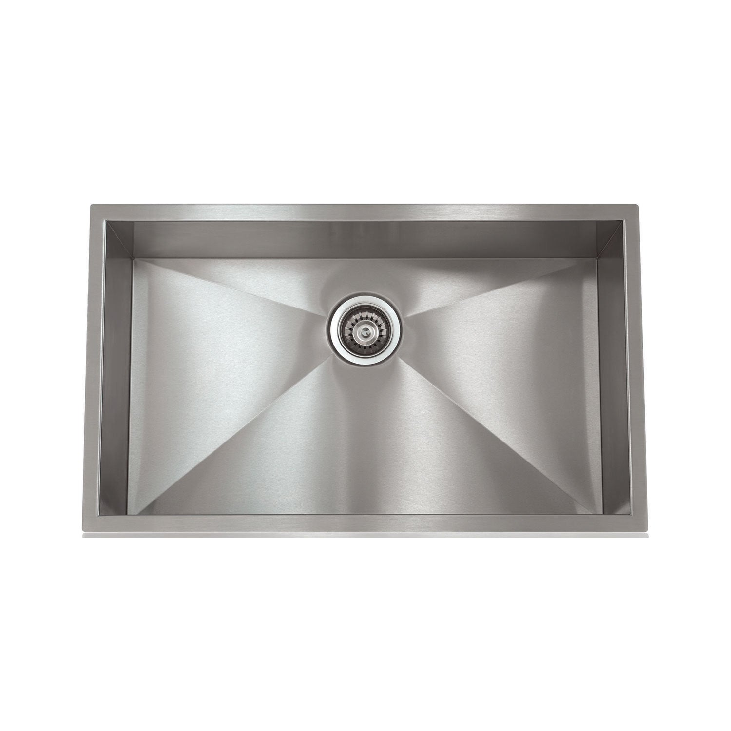 Ordinaire Shop Zero Radius Stainless Steel 28 Inch X 18 Inch Sink   Free Shipping  Today   Overstock   12113494