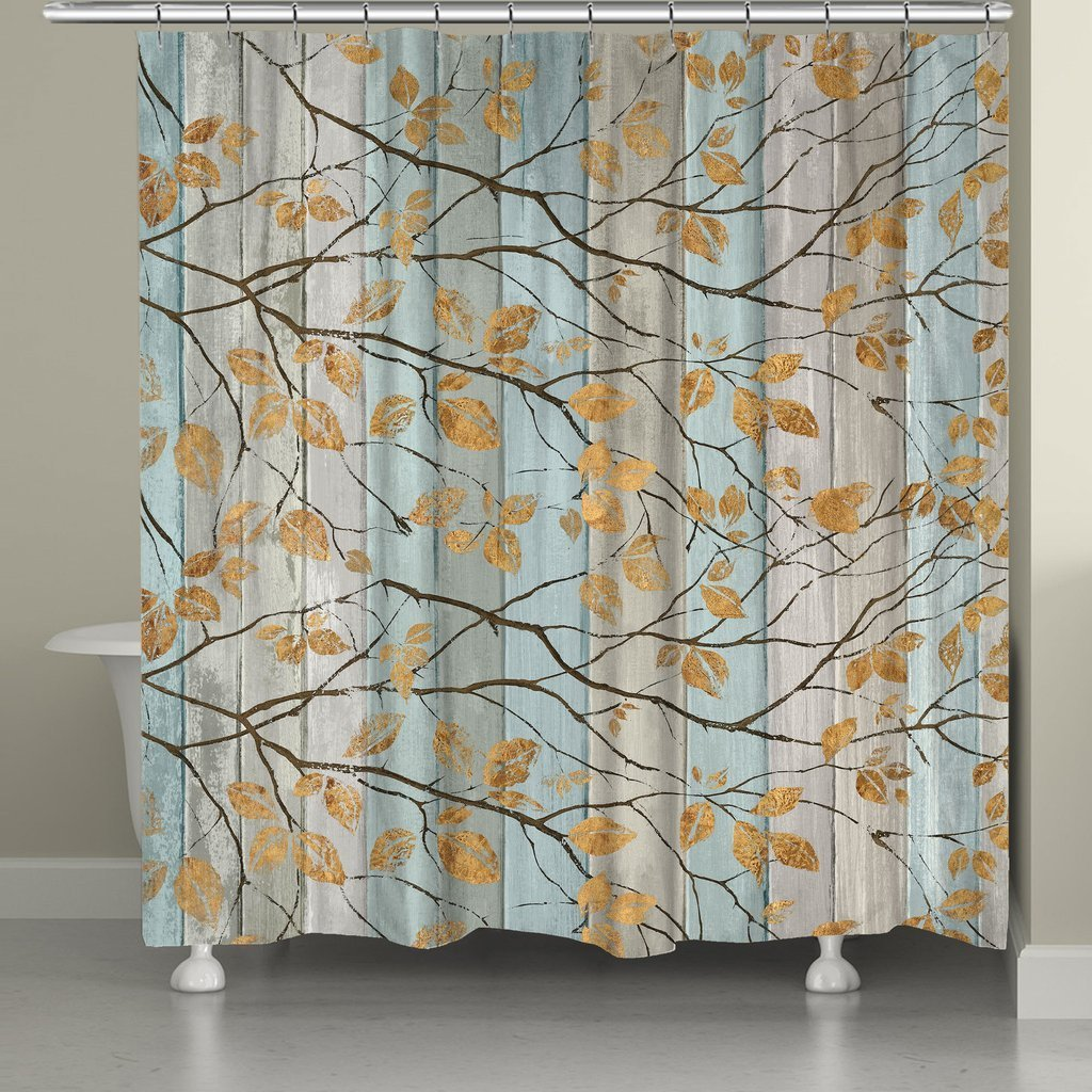 Laural Home Golden Leaves Shower Curtain - Free Shipping Today ...