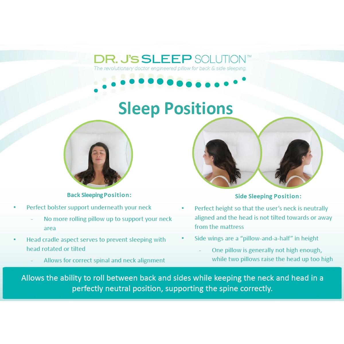 Slumber Shop Dr  J's Sleep Solution Pillow