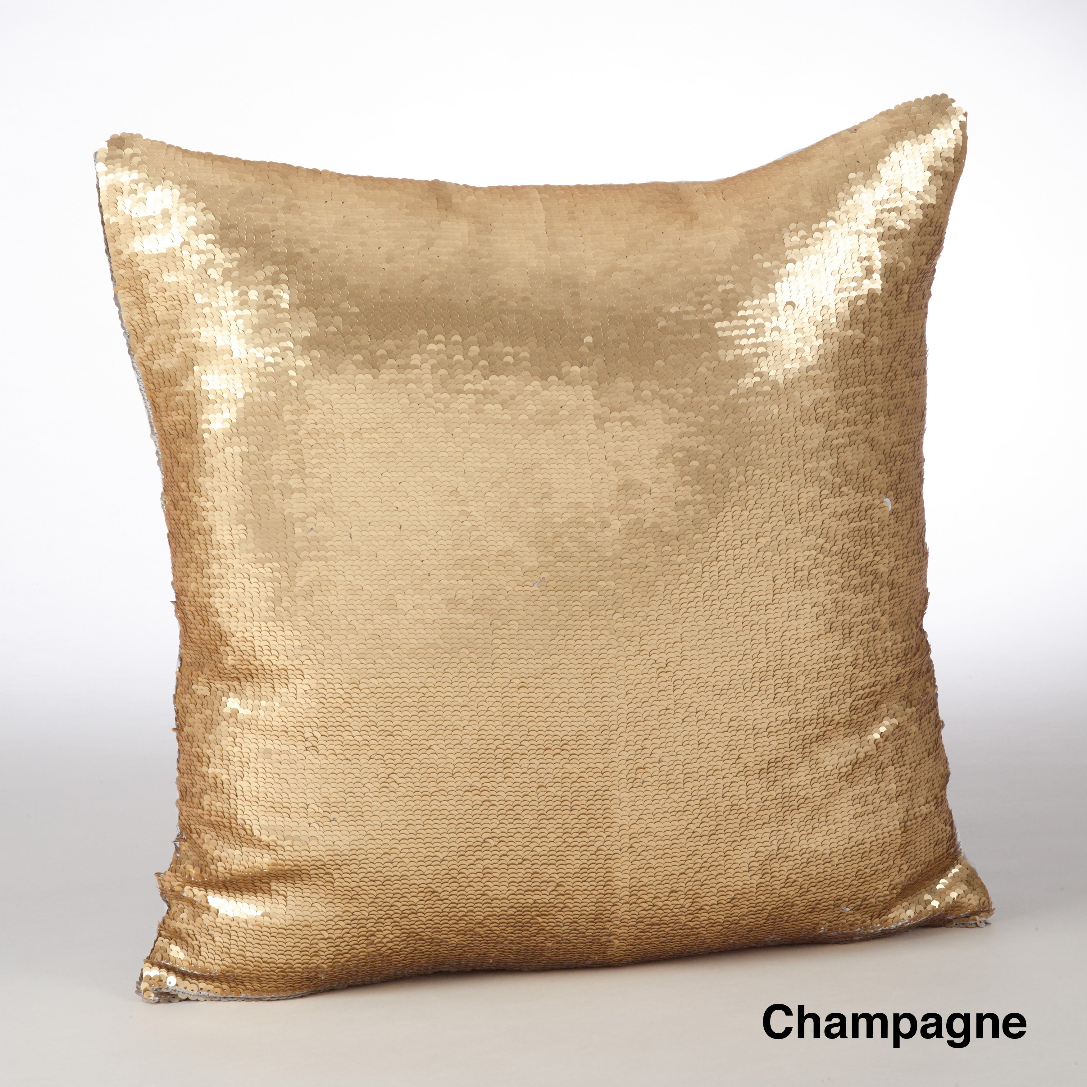 Sirun Collection Sequin Mermaid Design Down Filled Throw Pillow - Free Shipping On Orders Over $45 - Overstock - 18975535