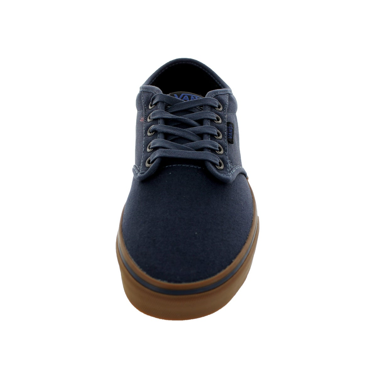 Shop Vans Men s Atwood Navy and Gum 12-ounce Canvas Skate Shoes - Free  Shipping Today - Overstock - 12115150 8b2c44a46