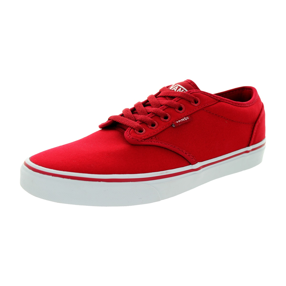 9e274c823e Shop Vans Men s Atwood Red Canvas Skate Shoes - Free Shipping Today -  Overstock.com - 12115152