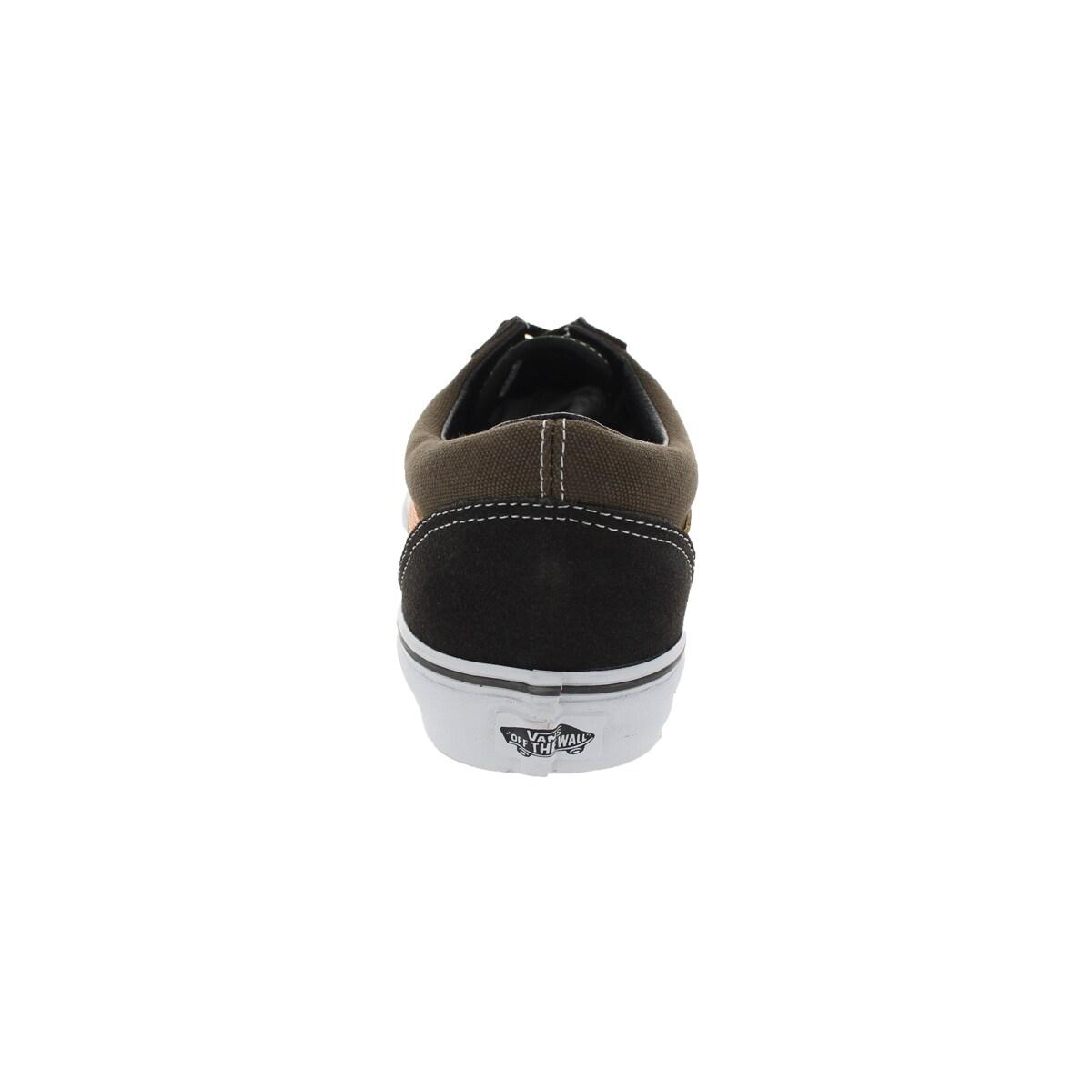 8789dd8507f8e4 Shop Vans Unisex Old Skool Brown Olive Orange Canvas Skate Shoes - Free  Shipping Today - Overstock - 12115244
