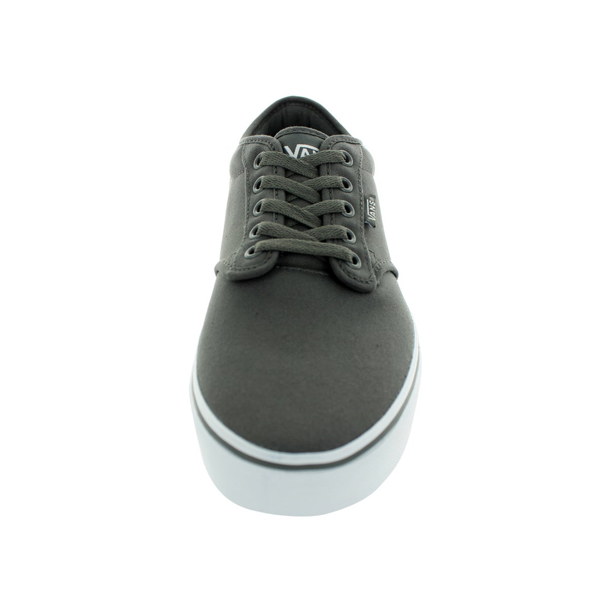 5960543ac69d29 Shop Vans Men s Atwood Pewter White Canvas Skate Shoe - Free Shipping Today  - Overstock - 12115337