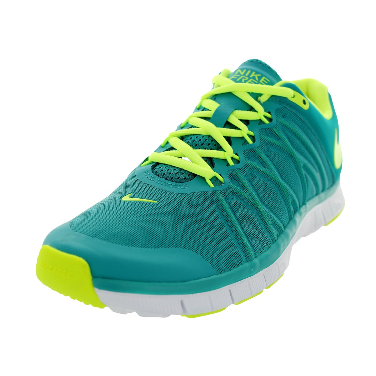 on sale e229e 8dd3d Shop Nike Men s Free Trainer 3.0 Turbo Green, Volt, and White Mesh Training  Shoes - Free Shipping Today - Overstock - 12115482