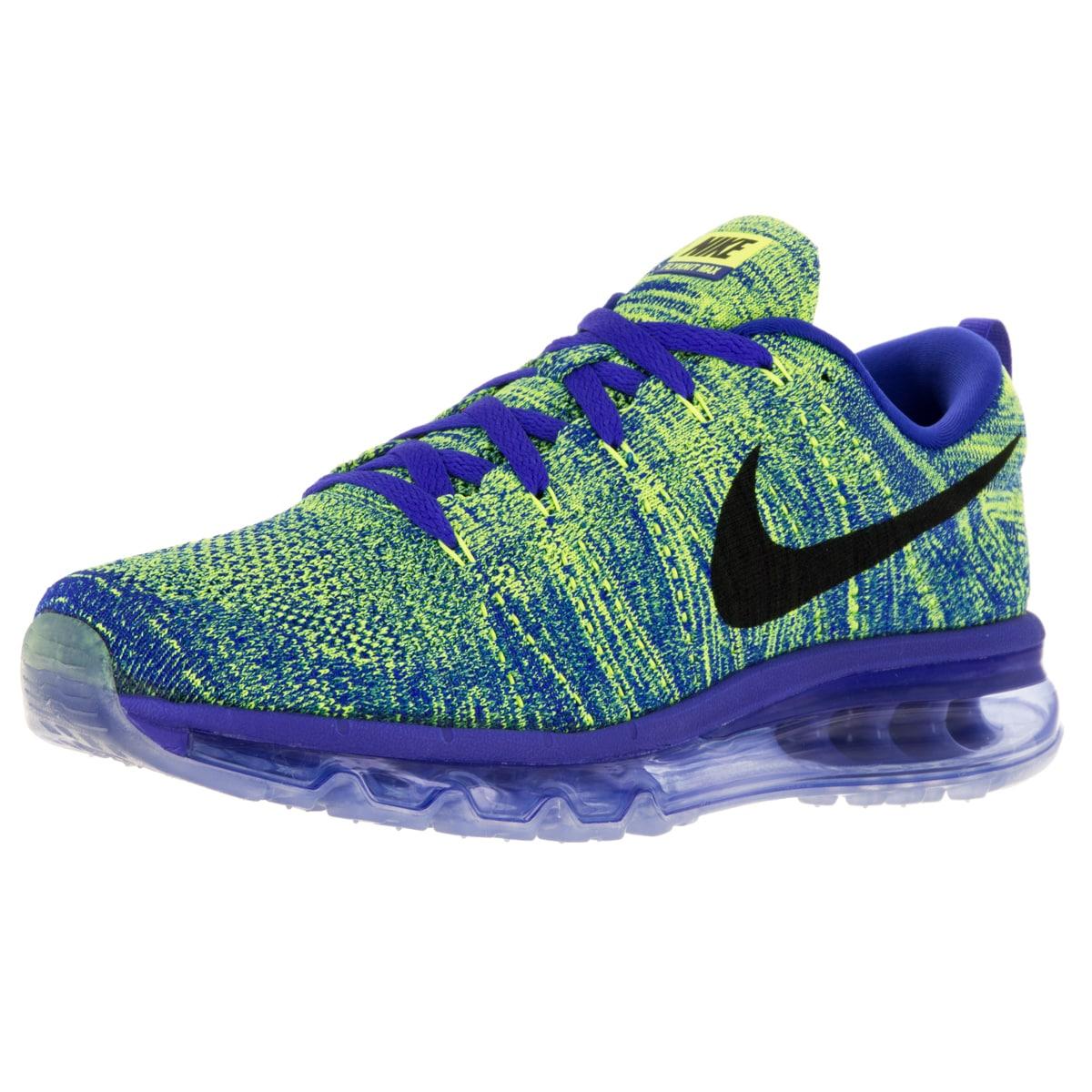 sale retailer b89e7 efd90 Shop Nike Men s Flyknit Max Racer Blue Mesh Running Shoe - Free Shipping  Today - Overstock - 12115529