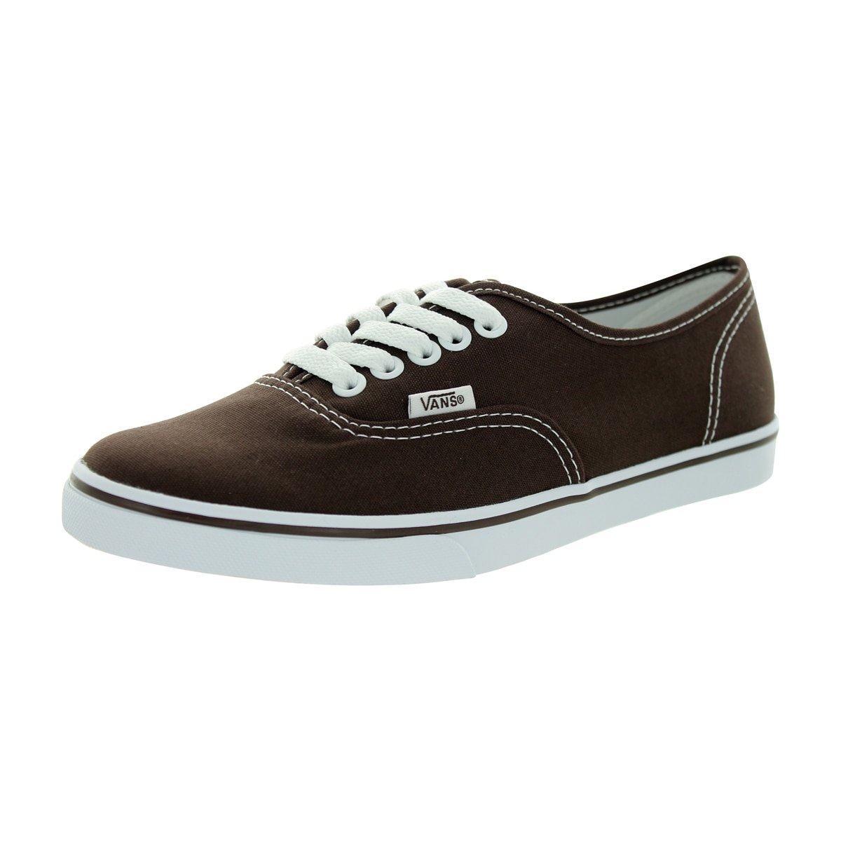 Shop Vans Men s Authentic Lo Pro Espresso True White Canvas Casual ... e372966e51f