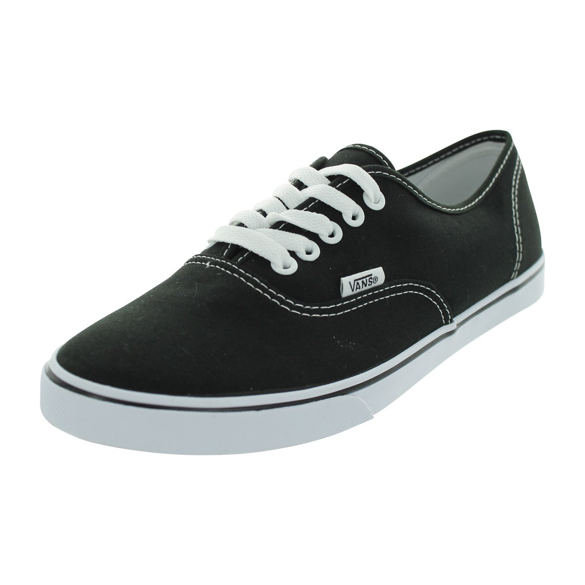 078042132ff Shop Vans Authentic Lo Pro Black Canvas Skate Shoes - Free Shipping ...