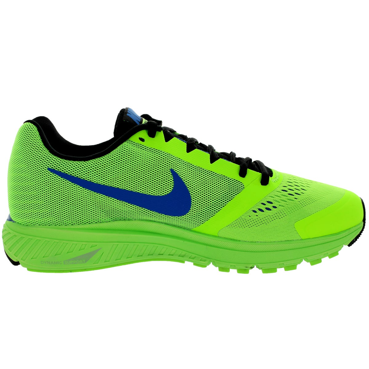 d7ae082e01b Shop Nike Men s Zoom Structure+ 17 Electric Green Black Hyper Cblt Running  Shoe - Free Shipping Today - Overstock.com - 12115661