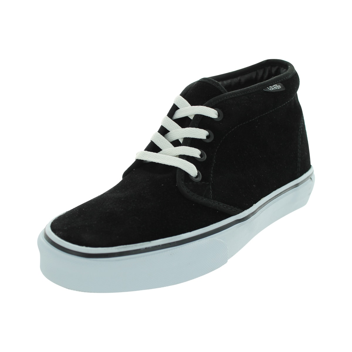 c0983f982c Shop Vans Men s Chukka Black White Suede Boot - Free Shipping Today ...