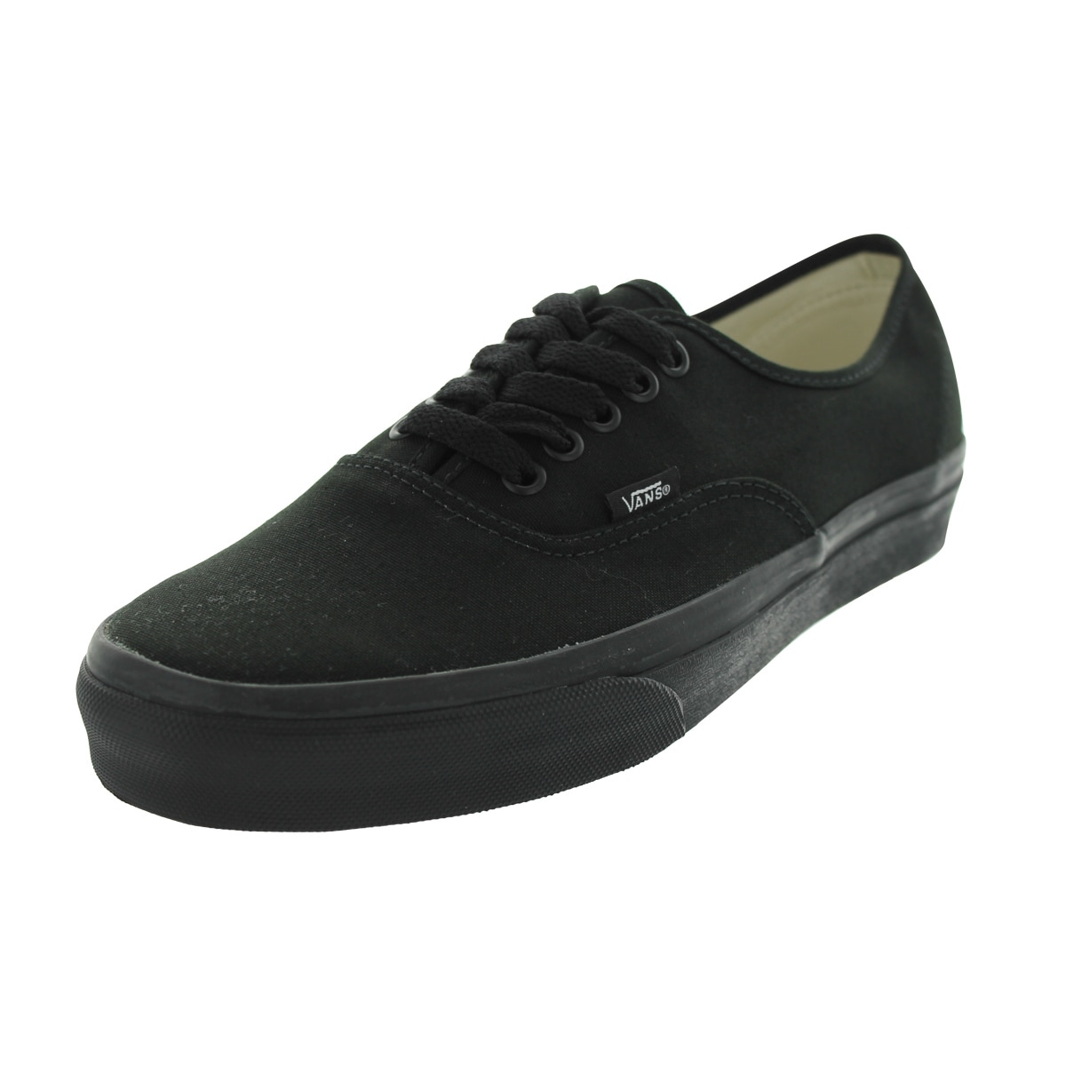 44ee8cc2a2947 Shop Vans Authentic Black Canvas Skate Shoes - Free Shipping Today ...