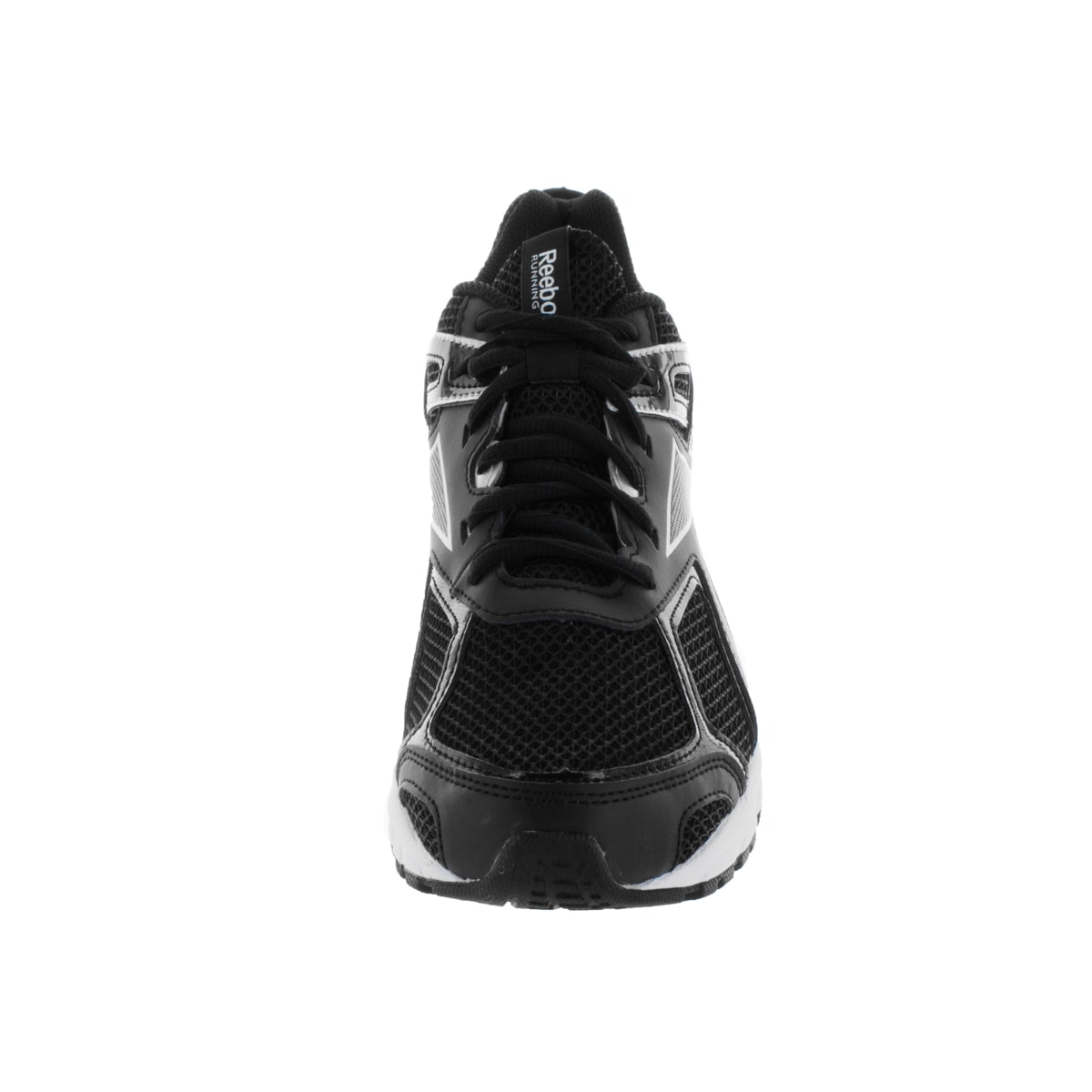 6dd8f4b98e2d Shop Reebok Men s Quickchase Black White Synthetic Running Shoe - Free  Shipping Today - Overstock.com - 12115968