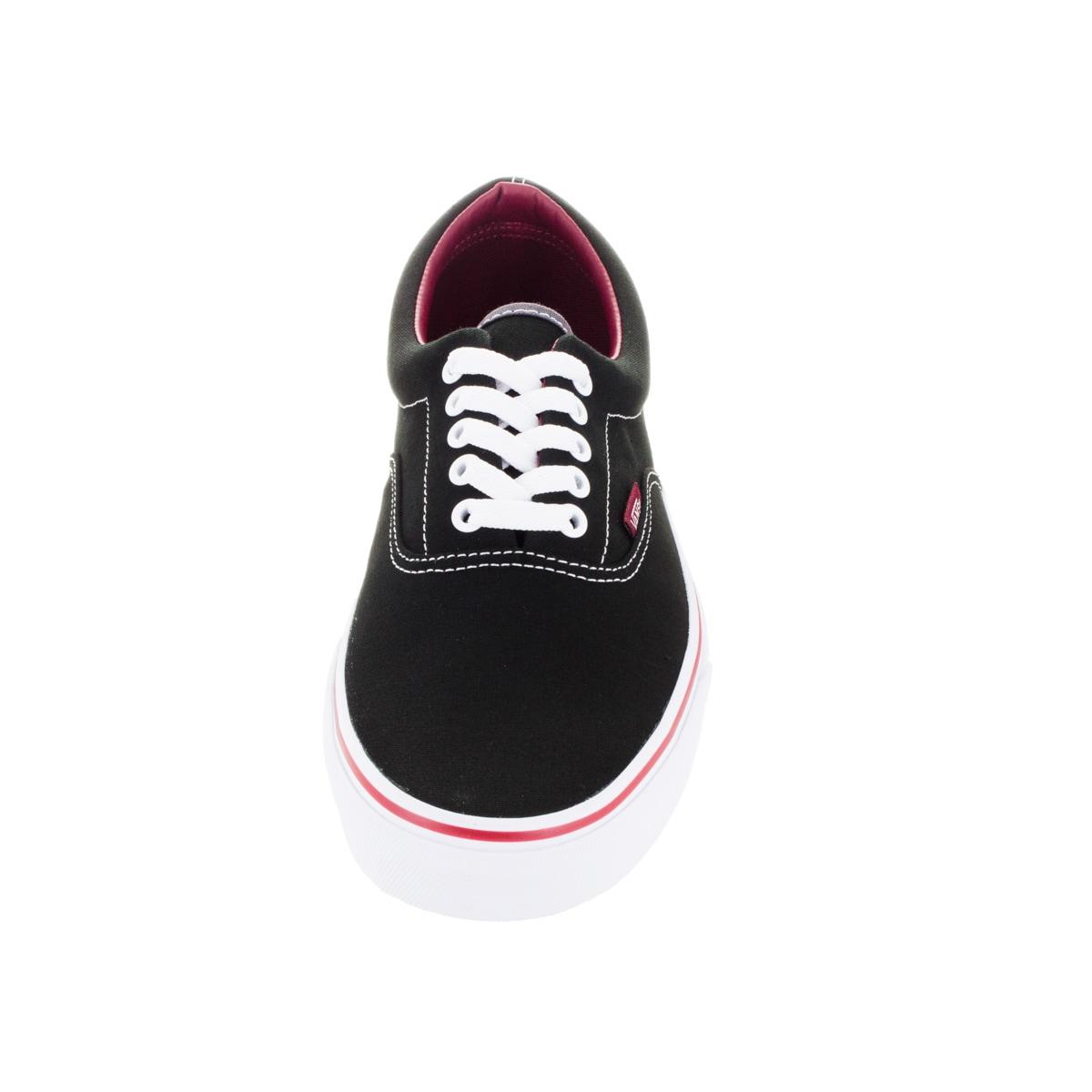 122c46fa9d Shop Vans Unisex Era Pop Black Rhubarb Canvas Skate Shoe - Free Shipping  Today - Overstock - 12115974