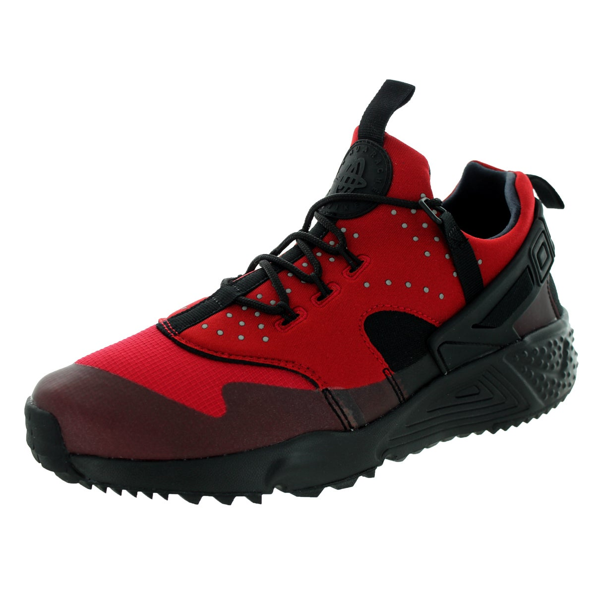 3f243f73b47d Shop Nike Men s Air Huarache Utility Gym Red and Black Running Shoes - Free  Shipping Today - Overstock - 12115997
