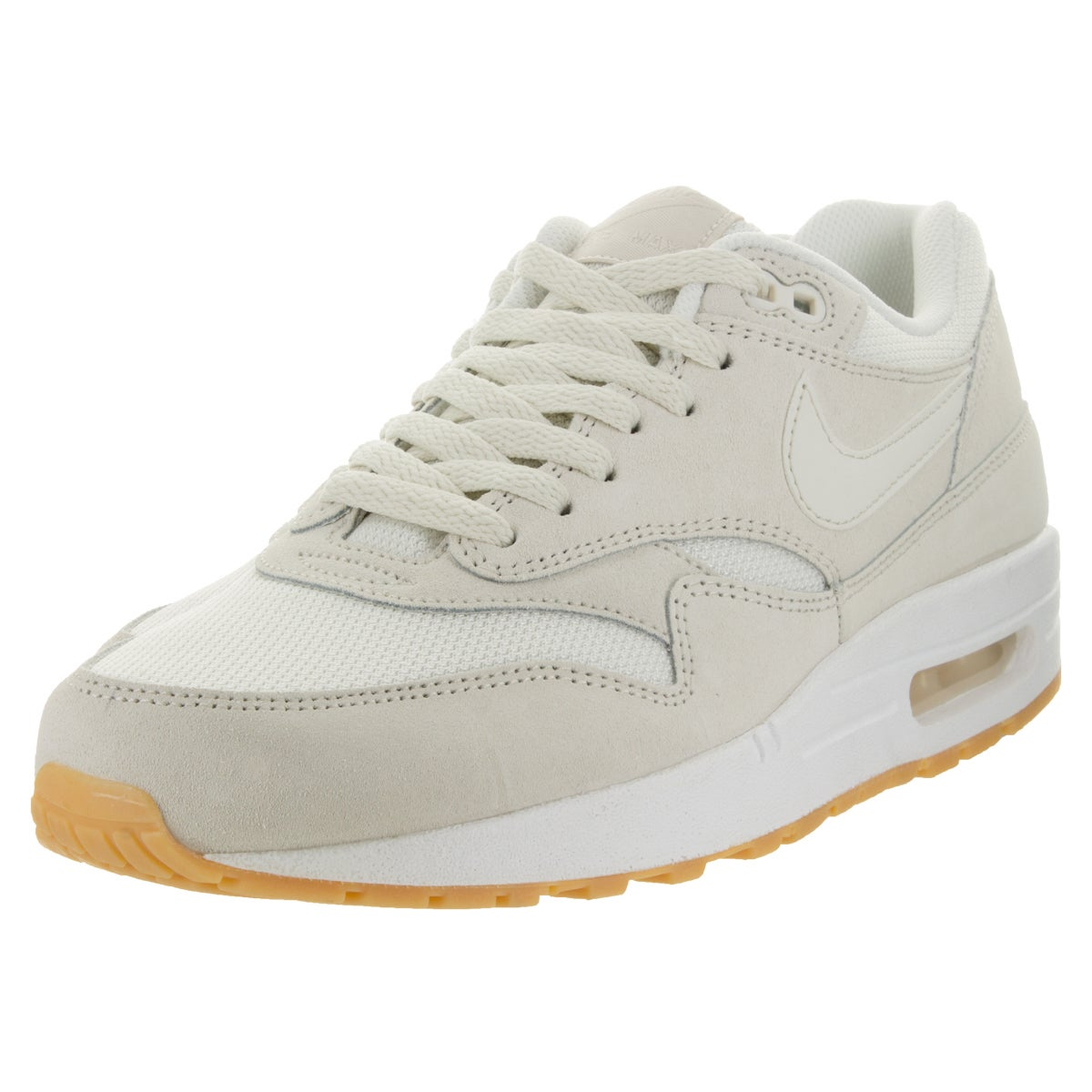 27e6f5f18 Shop Nike Men s Air Max 1 Essential Phantom Phantom White Running Shoe -  Free Shipping Today - Overstock - 12118175