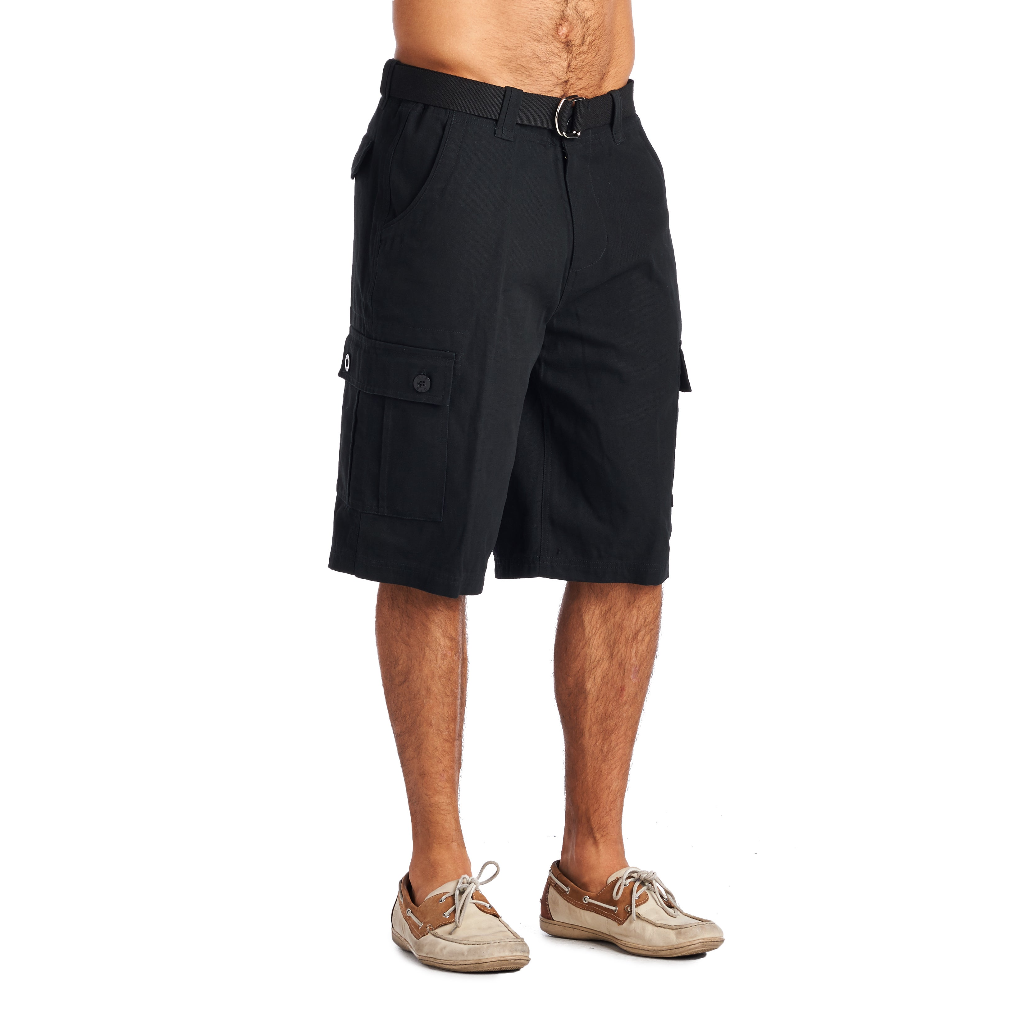 Shop OTB Men s Black Cotton Cargo Shorts - On Sale - Free Shipping On  Orders Over  45 - Overstock - 12118686 9e954576d34