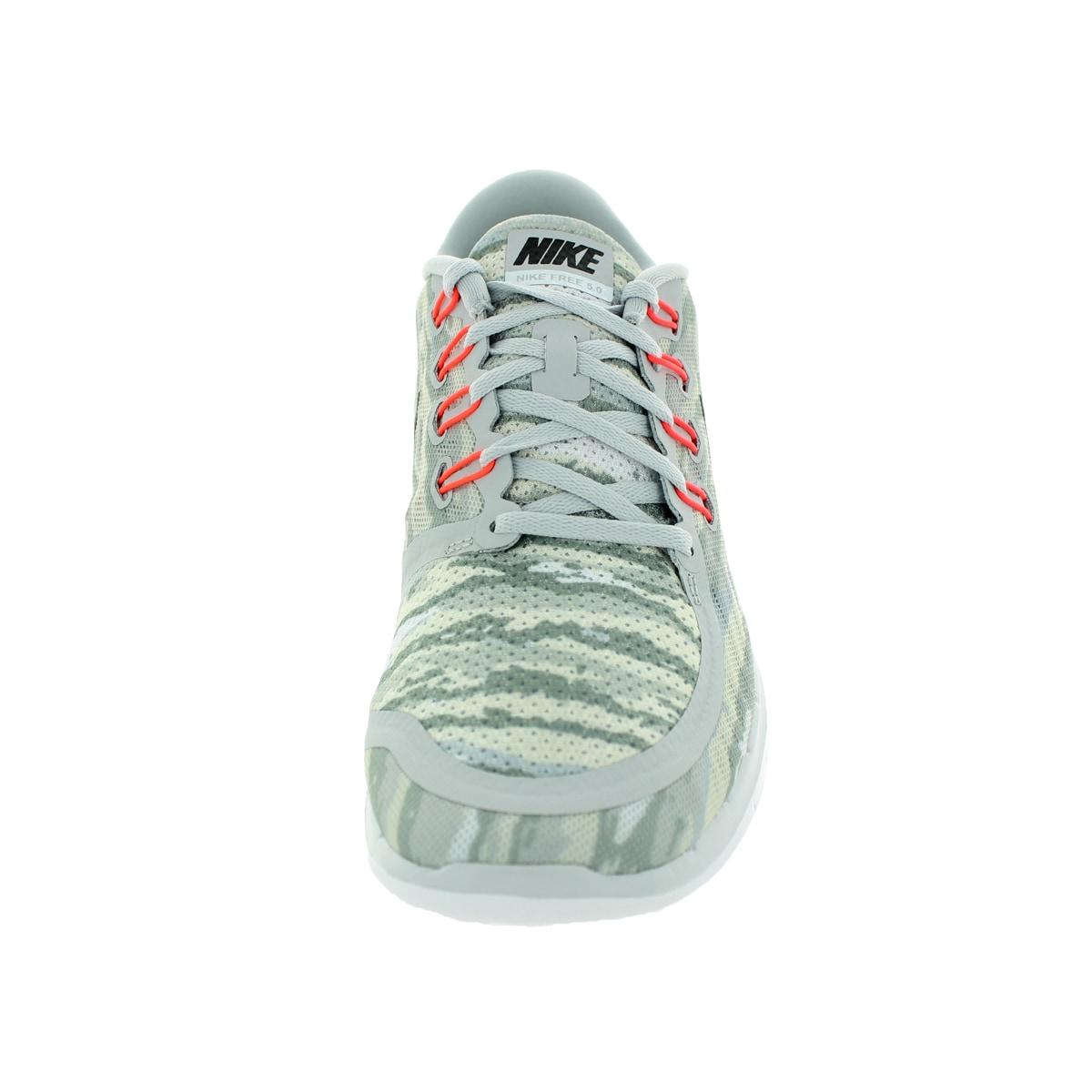 online retailer 1e9f3 fc8da Shop Nike Men s Free 5.0 Print Pure Platinum Black Hot Lava Running Shoe -  Free Shipping Today - Overstock - 12118857