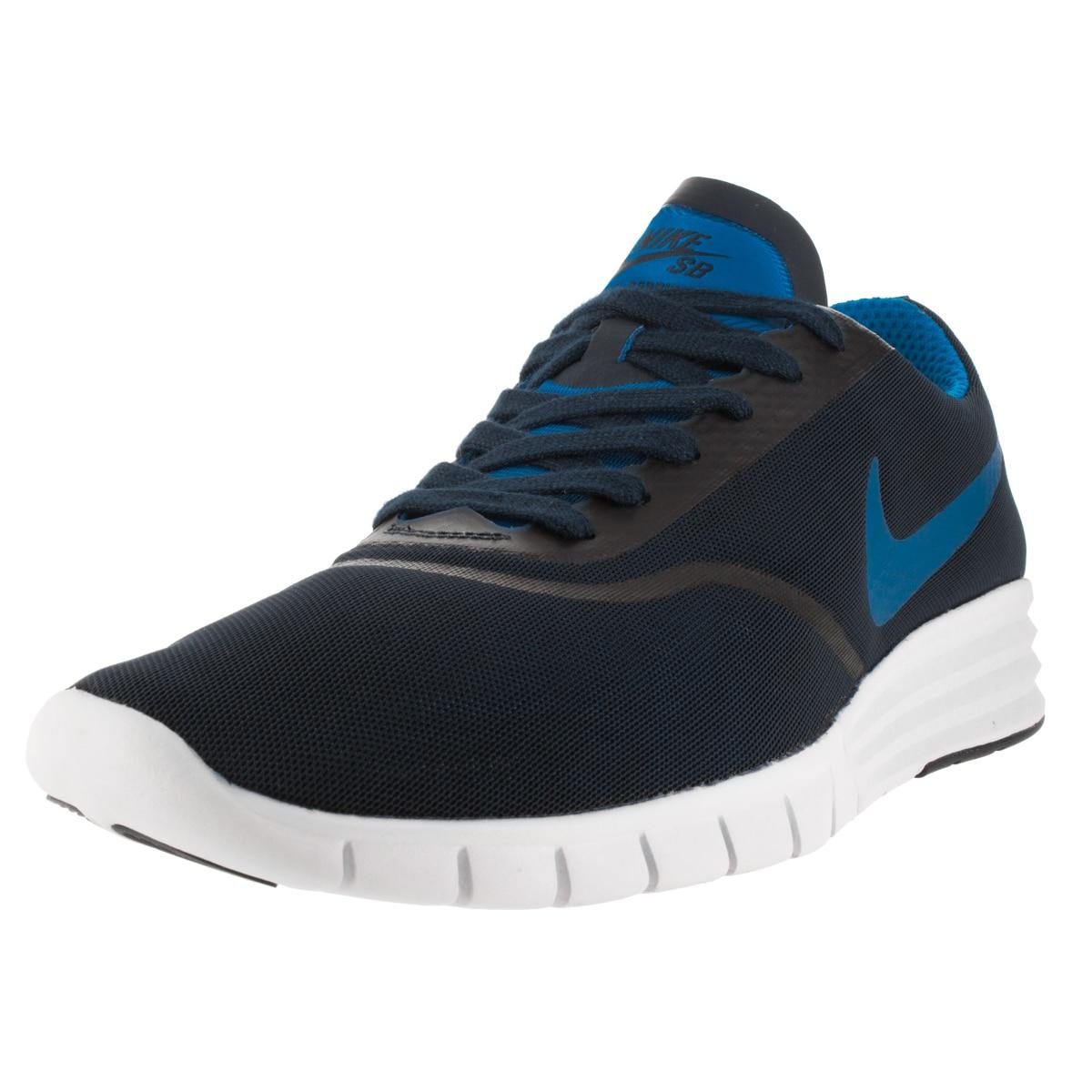9402ed073f2 Nike Men s Sb Lunar Paul Rodriguez 9 Obsidian Photo Blue White Skate Shoe