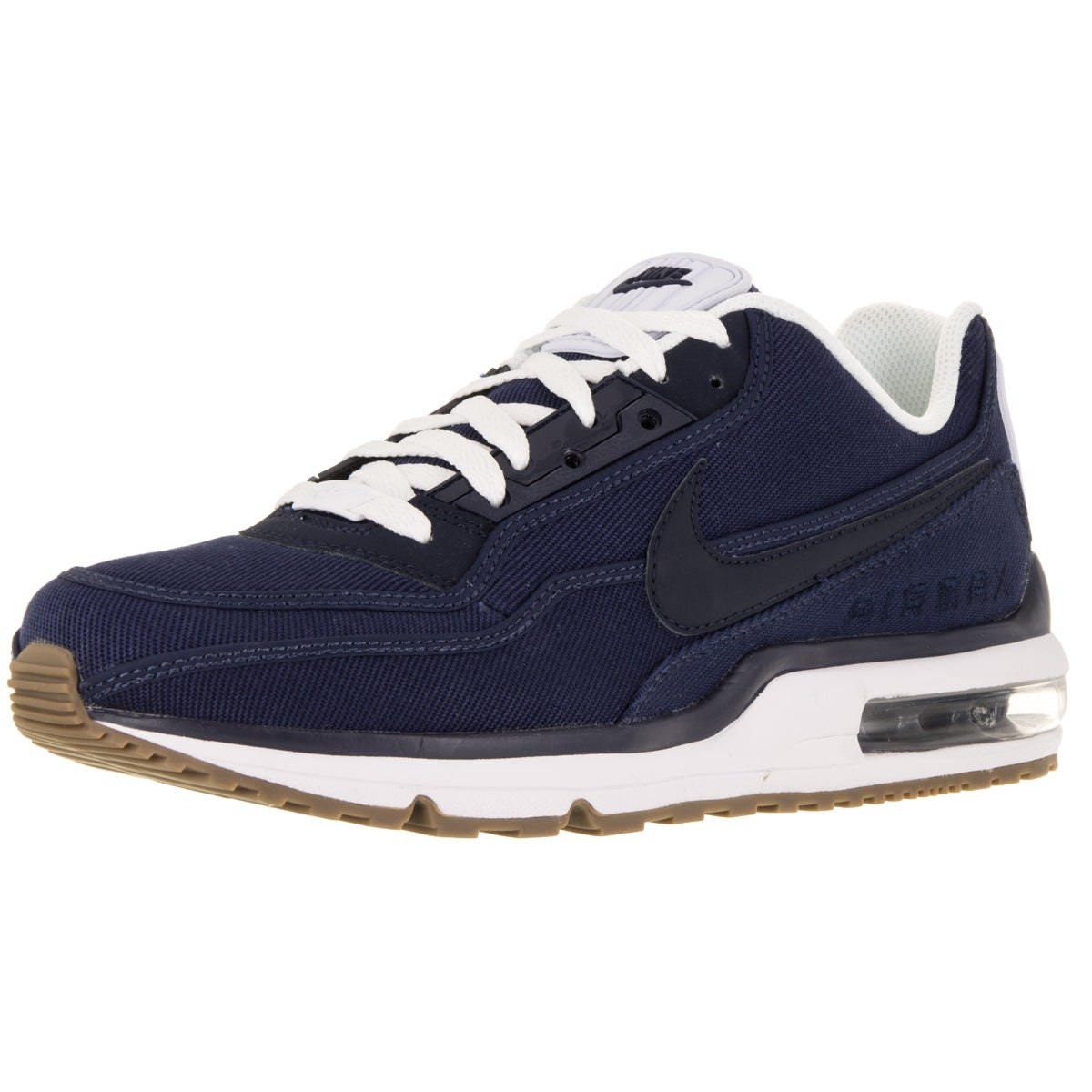 a2a4f628b6 Shop Nike Men's Air Max Ltd 3 Txt Mid Navy/Obsidian/White/Gm Dark Brw  Running Shoe - Free Shipping Today - Overstock - 12120035
