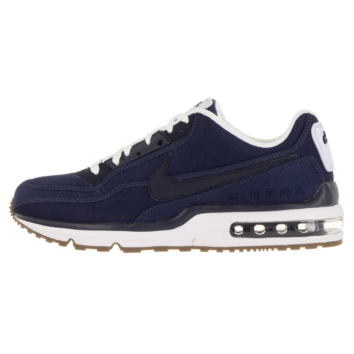 big sale 24f0b bceca Shop Nike Men s Air Max Ltd 3 Txt Mid Navy Obsidian White Gm Dark Brw  Running Shoe - Free Shipping Today - Overstock - 12120035