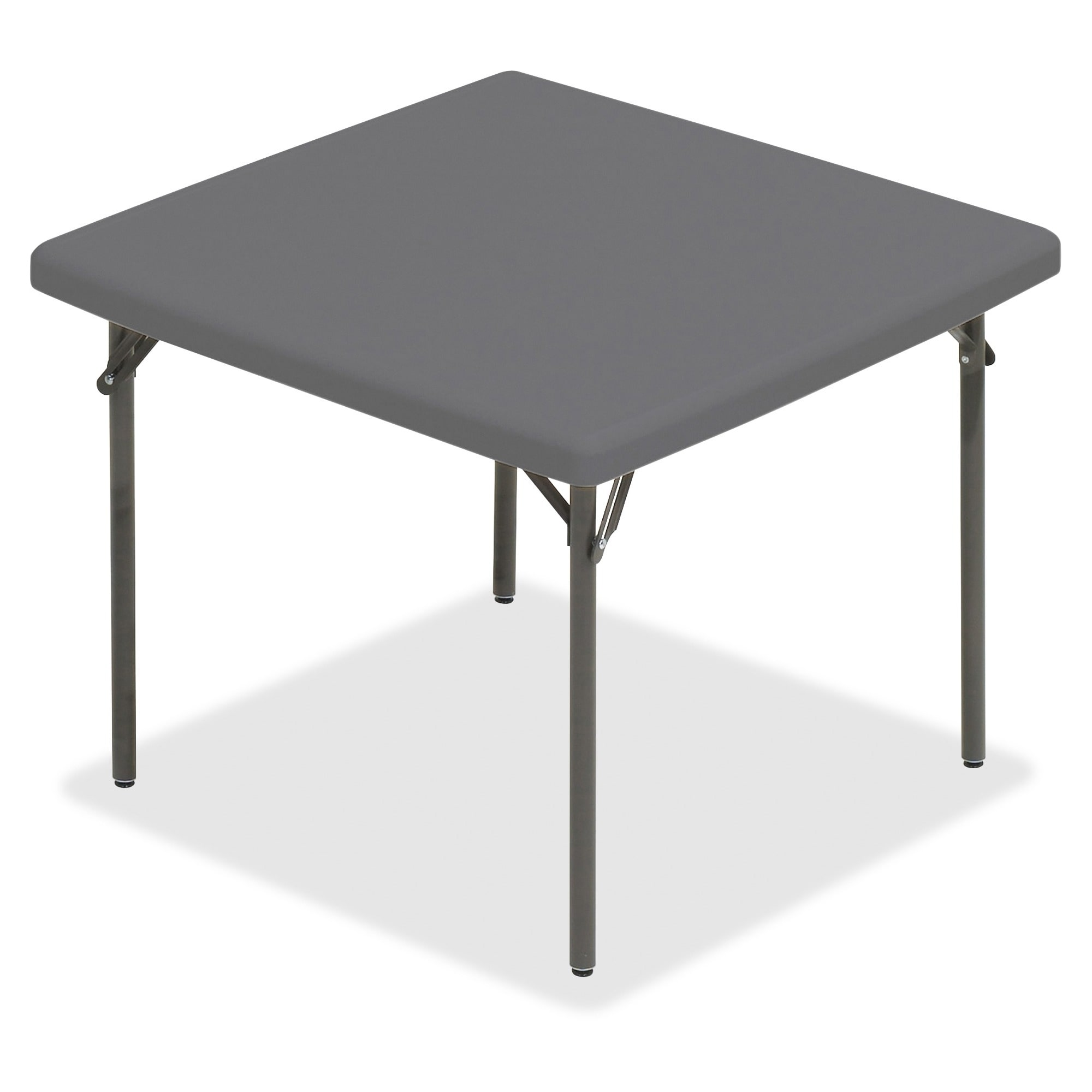 Iceberg IndestrucTable TOO Square Folding Table   Charcoal (Or Charcoal  Gray)   Free Shipping Today   Overstock   18980272