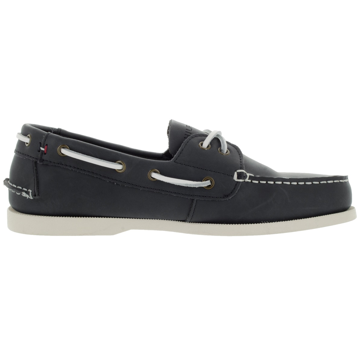 Shop Tommy Hilfiger Men s Bowman Dark Blue Leather Casual Shoe - Free  Shipping Today - Overstock - 12121305 9a0de3aa897