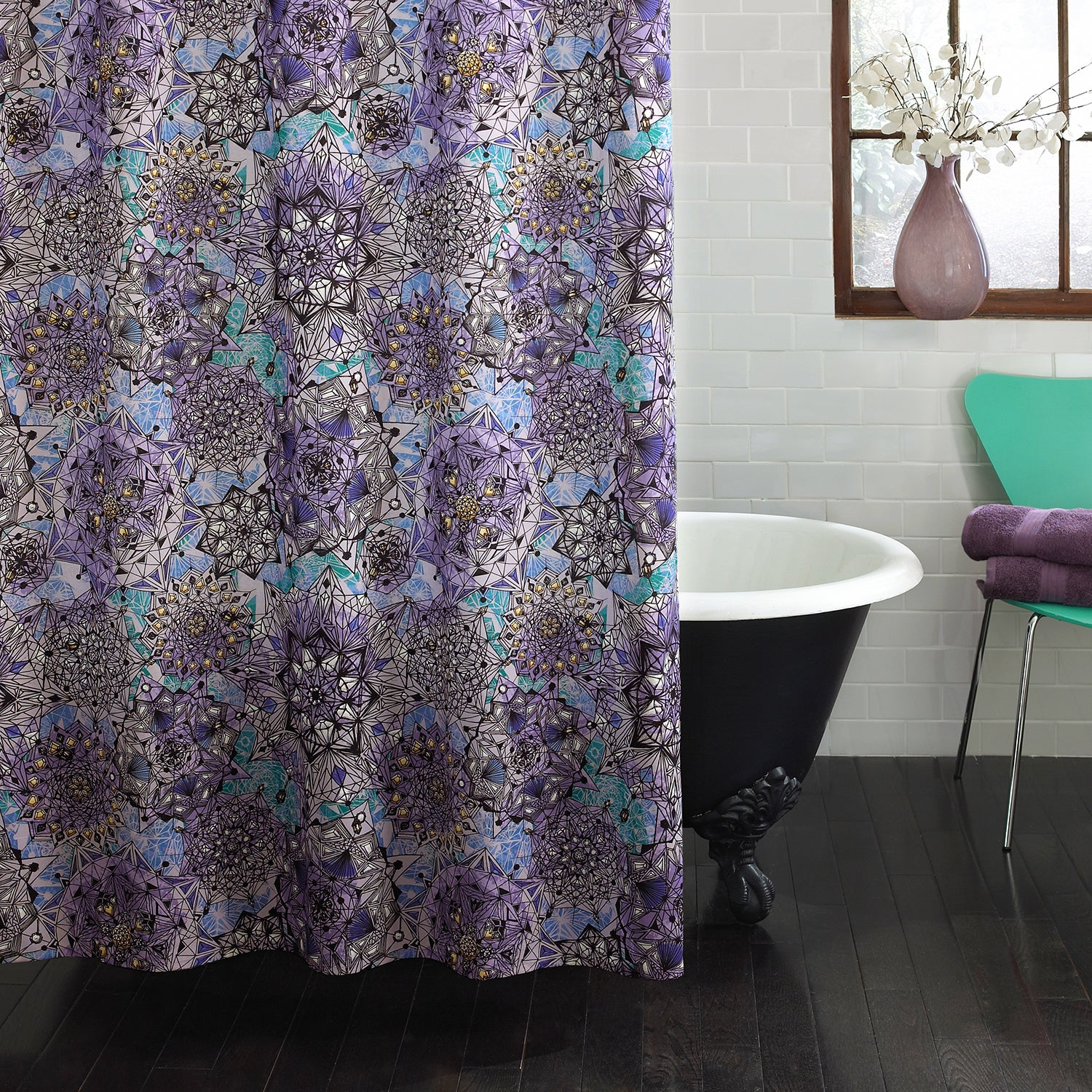 Shop Excell Ode To Geode Purple Shower Curtain