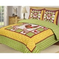 Slumber Shop Heritage Collection Rooster 3-piece Quilt Set